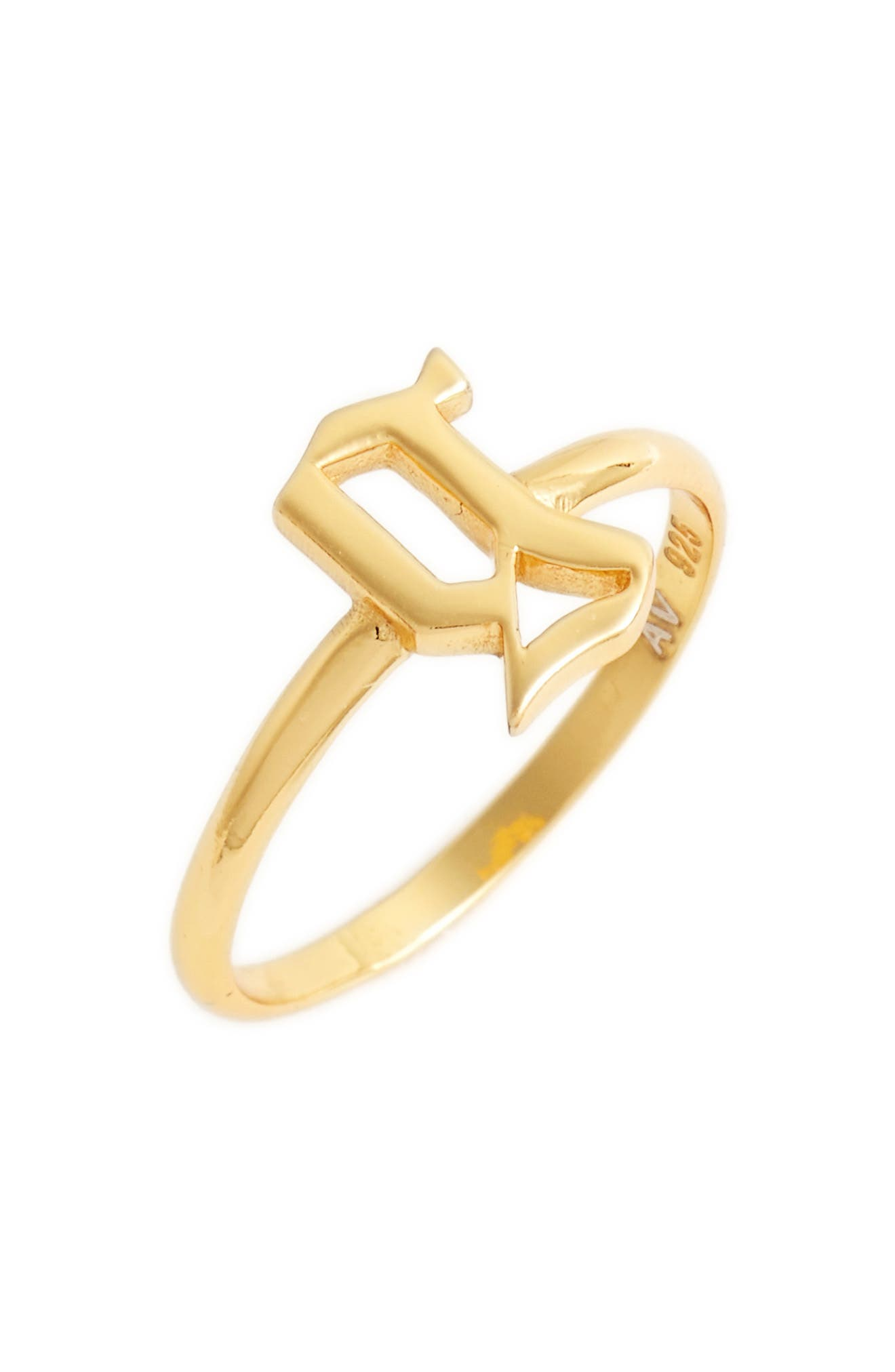Gothic Initial Ring,                             Main thumbnail 20, color,