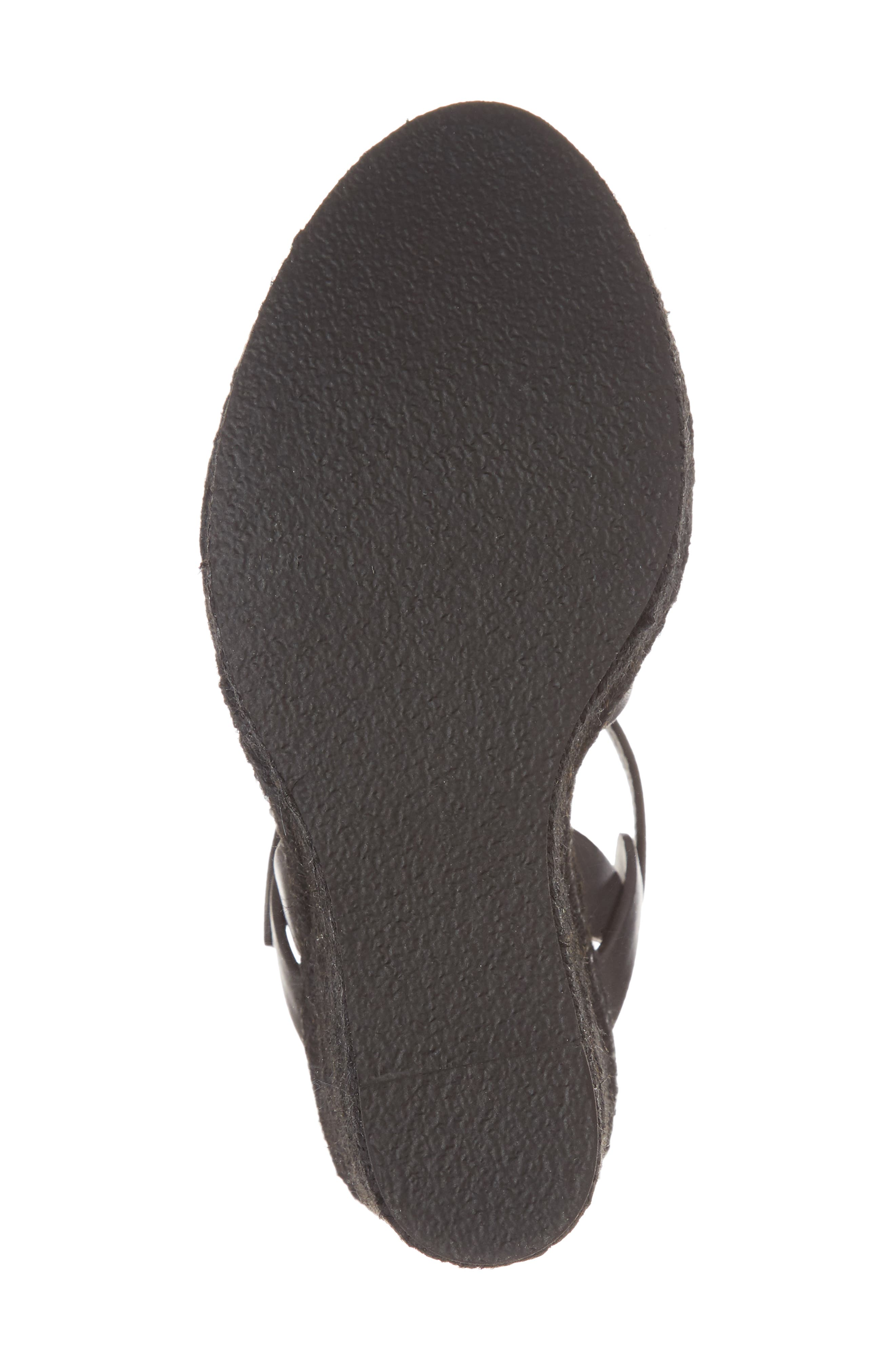 Tribute Espadrille Wedge,                             Alternate thumbnail 6, color,                             BLACK