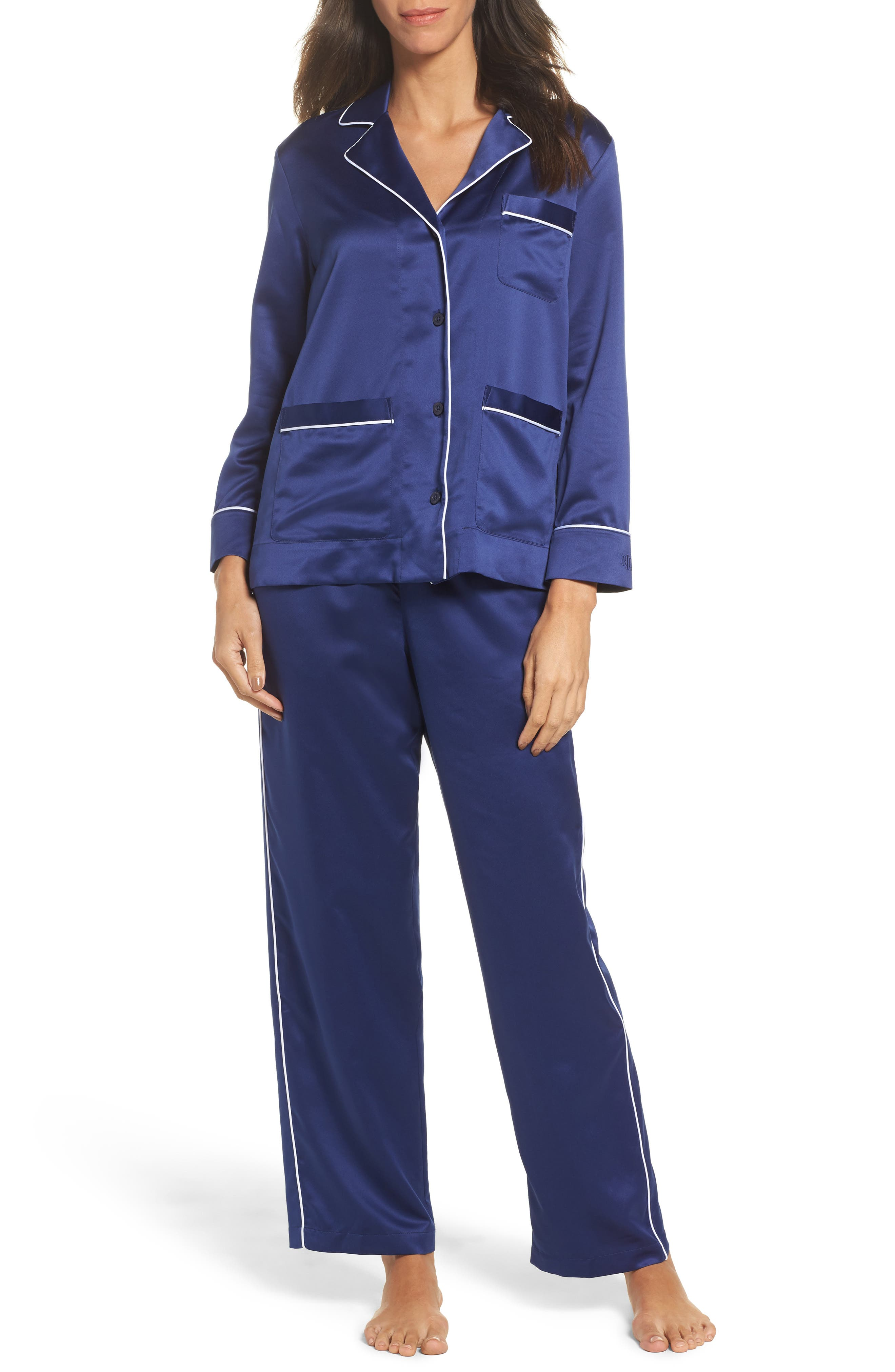 Satin Pajamas,                         Main,                         color, 410