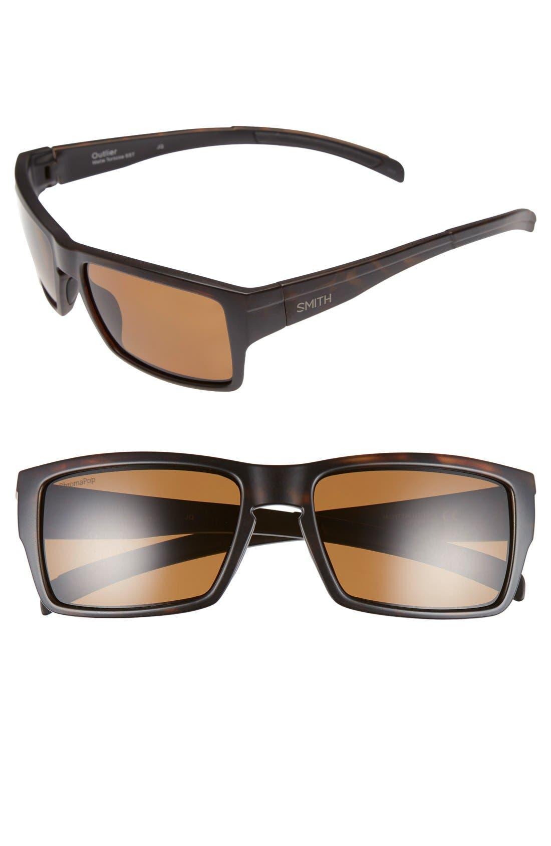 'Outlier' 56mm Polarized Sunglasses,                             Main thumbnail 1, color,                             201