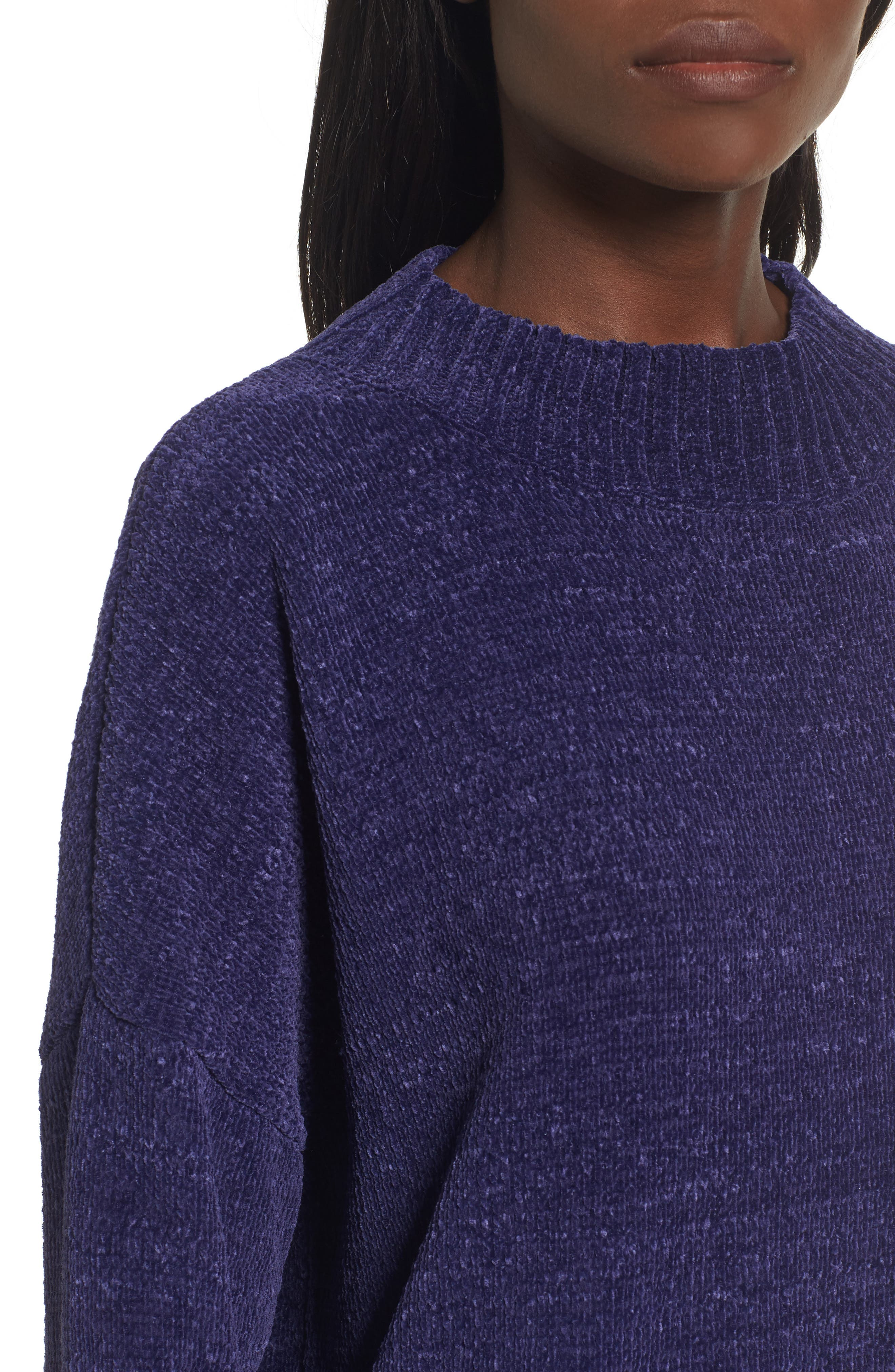 Chenille Funnel Neck Sweater,                             Alternate thumbnail 18, color,