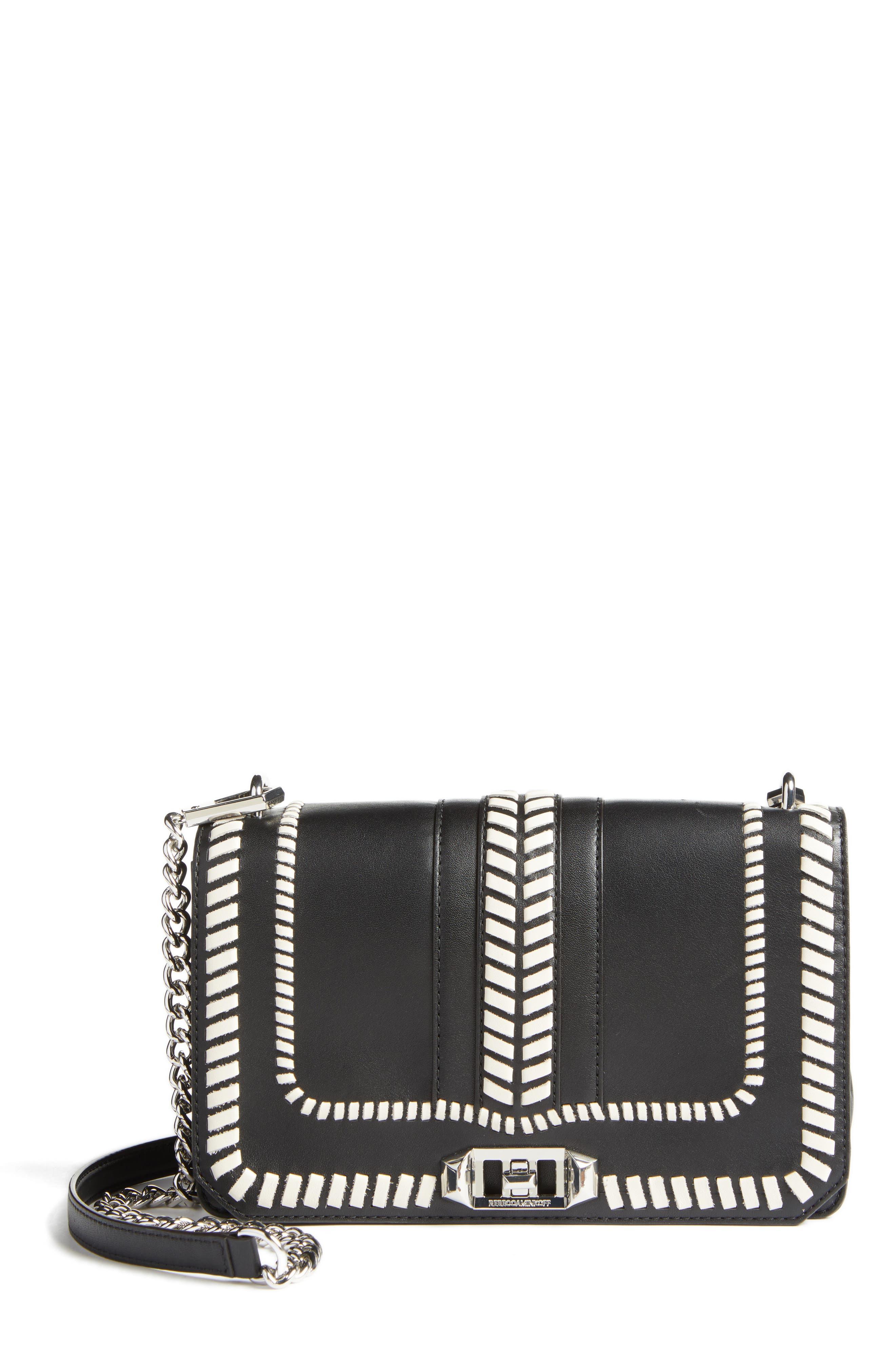 Love Leather Convertible Crossbody Bag,                             Main thumbnail 1, color,                             001