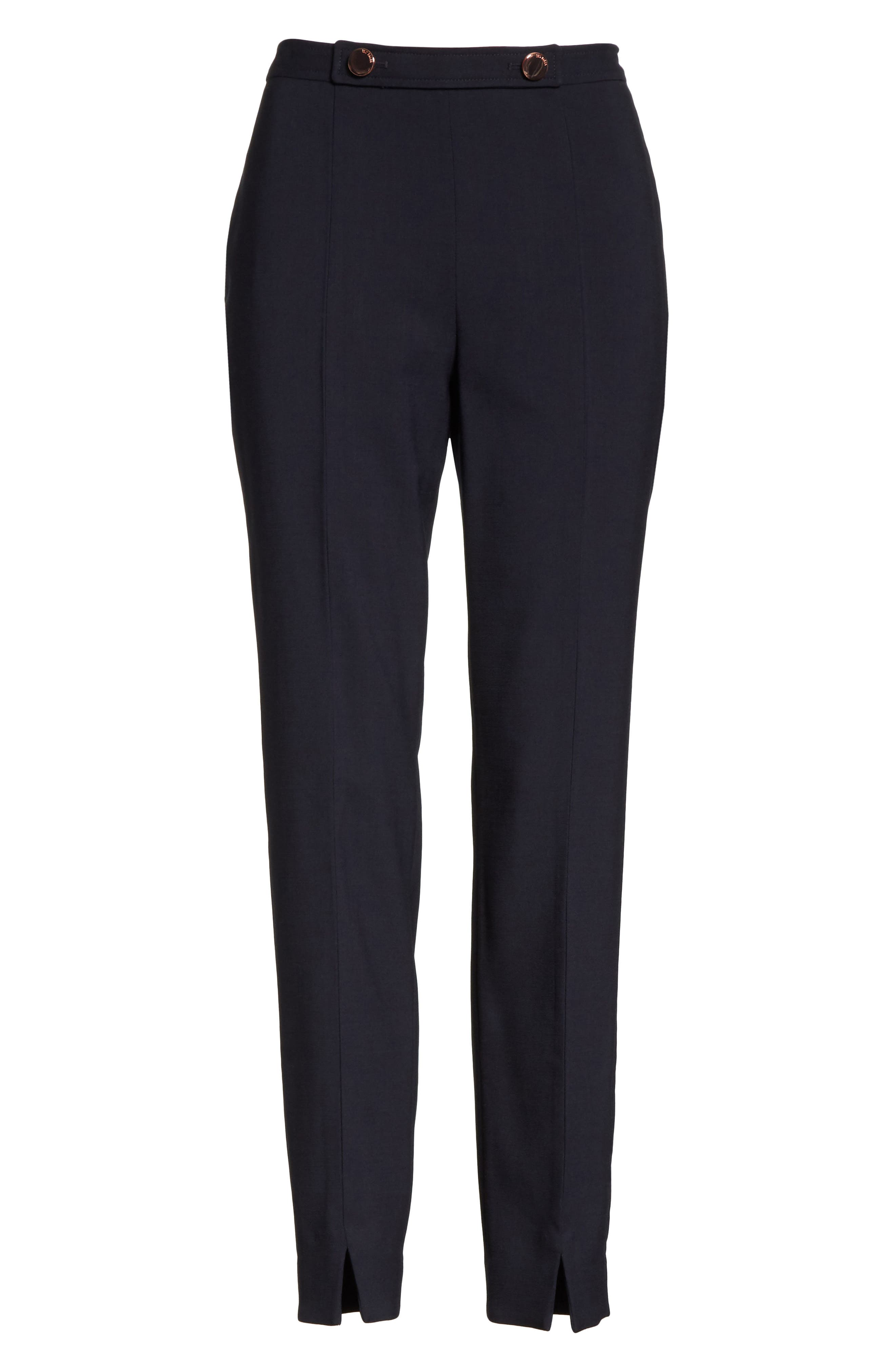 Ted Working Title Front Slit Skinny Trousers,                             Alternate thumbnail 6, color,                             410