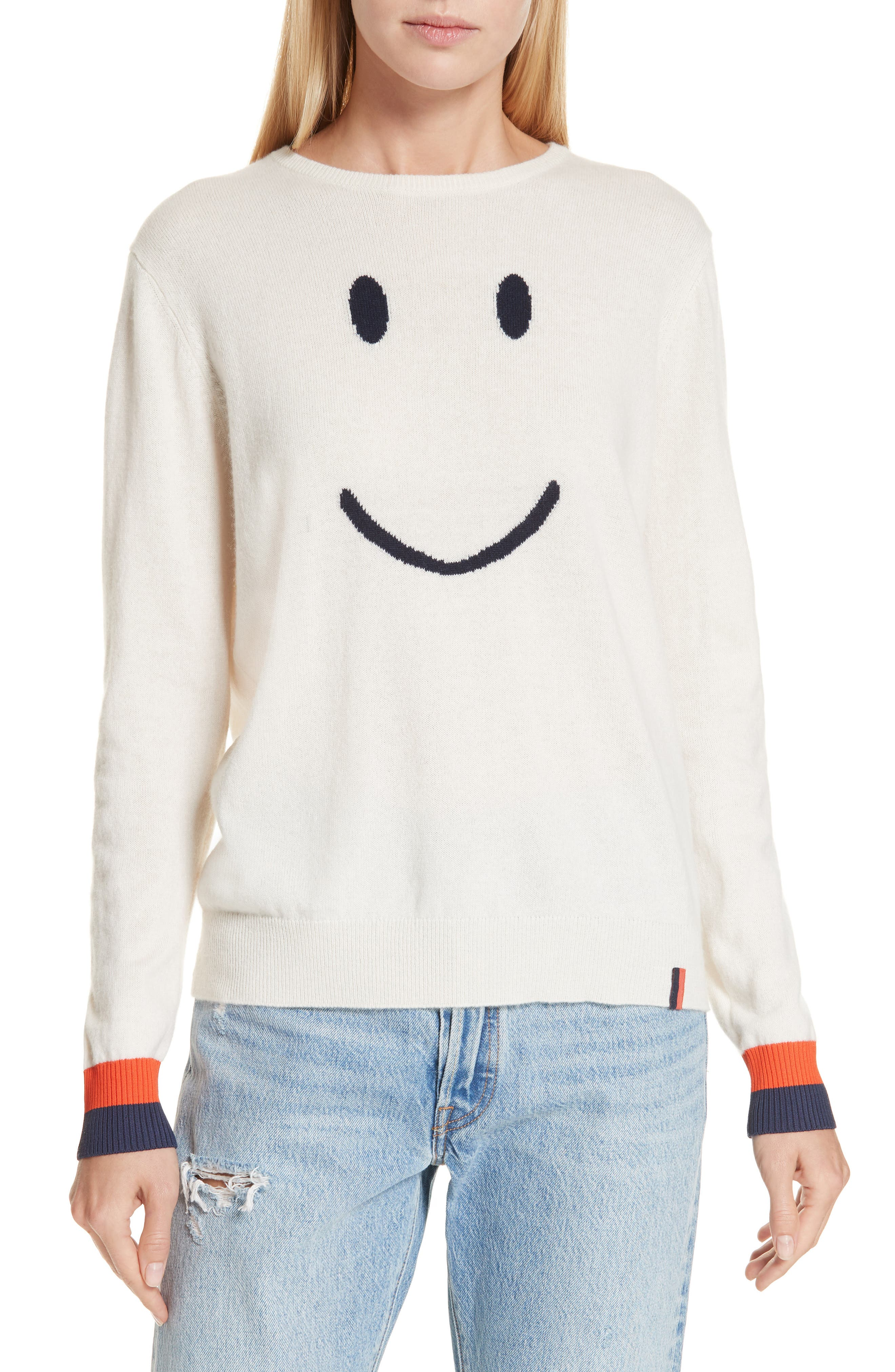 KULE The Smile Cashmere Blend Sweater in Cream