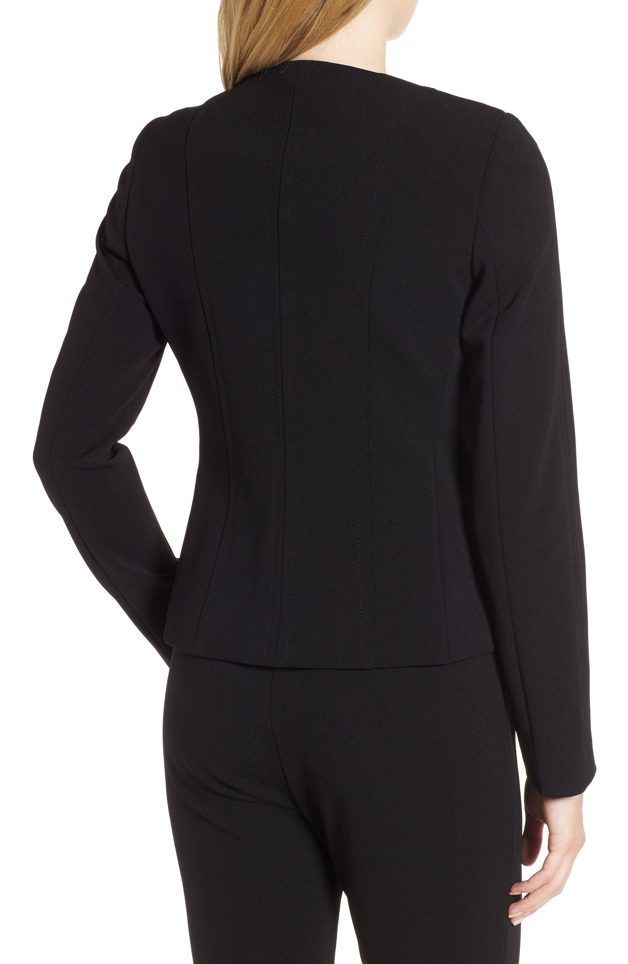 Jazulara Twill Jersey Suit Jacket,                             Alternate thumbnail 2, color,                             001