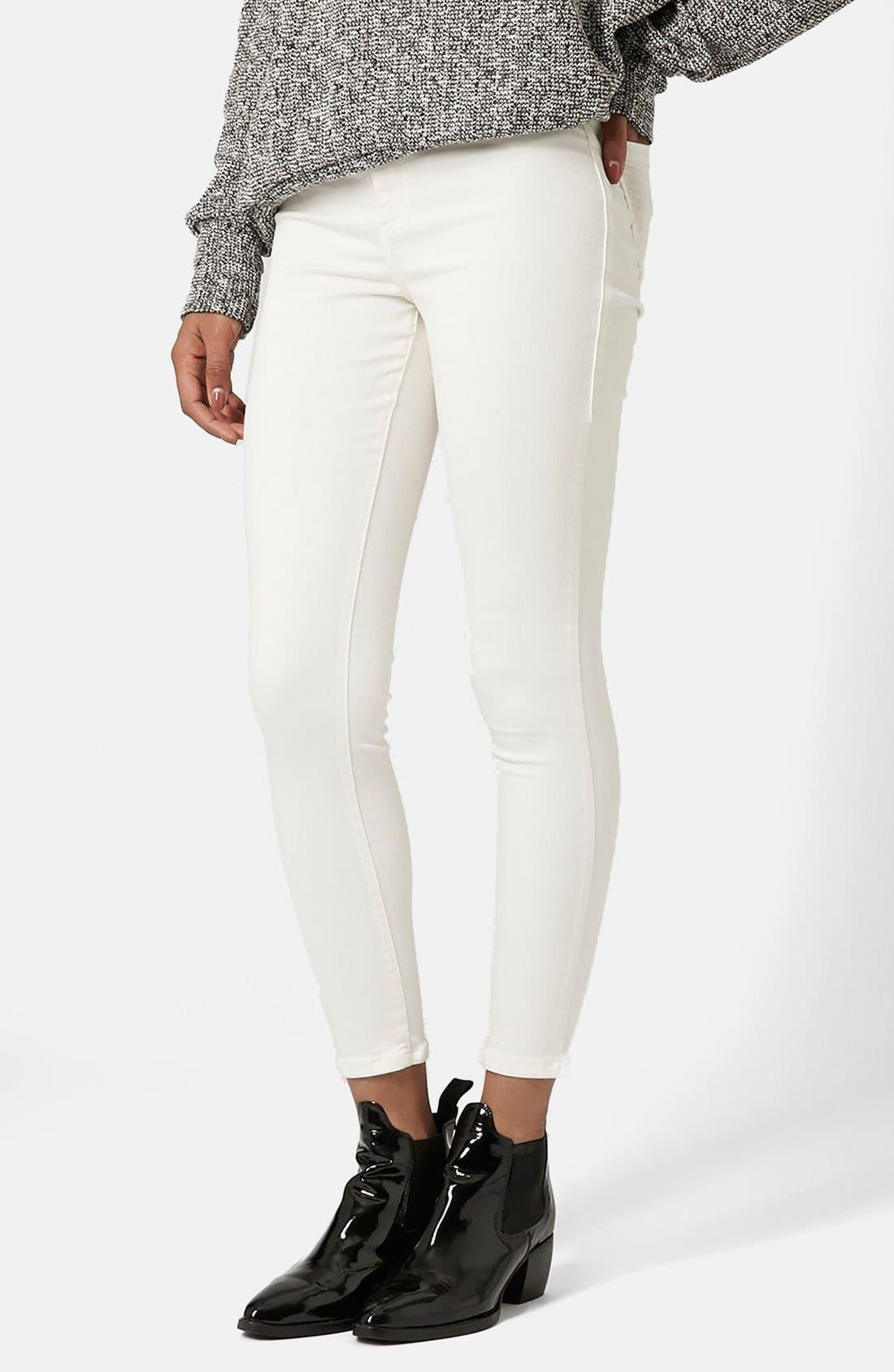 Moto 'Joni' Skinny Jeans,                             Main thumbnail 1, color,                             100