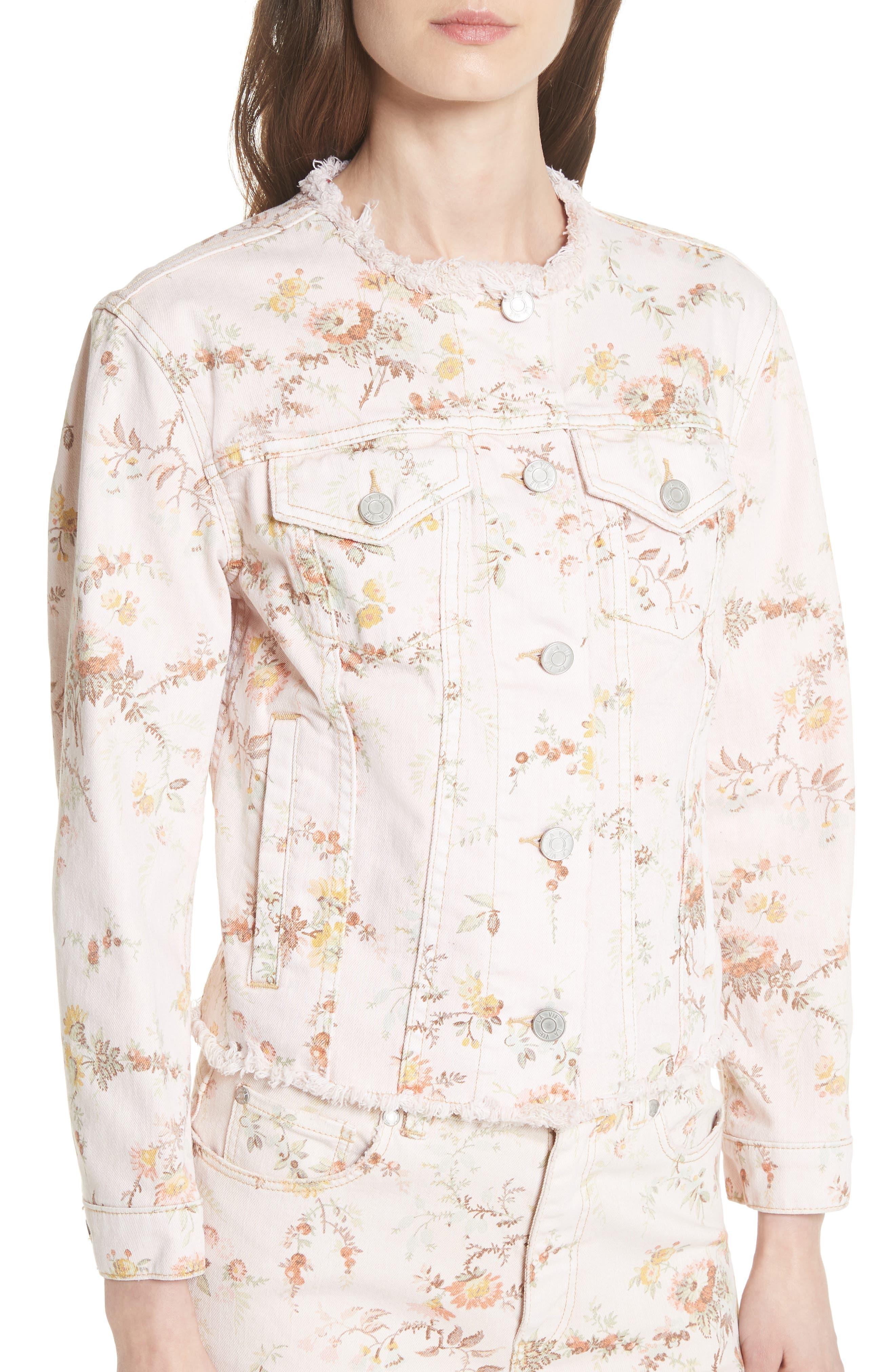Belle Denim Jacket,                             Alternate thumbnail 4, color,                             903