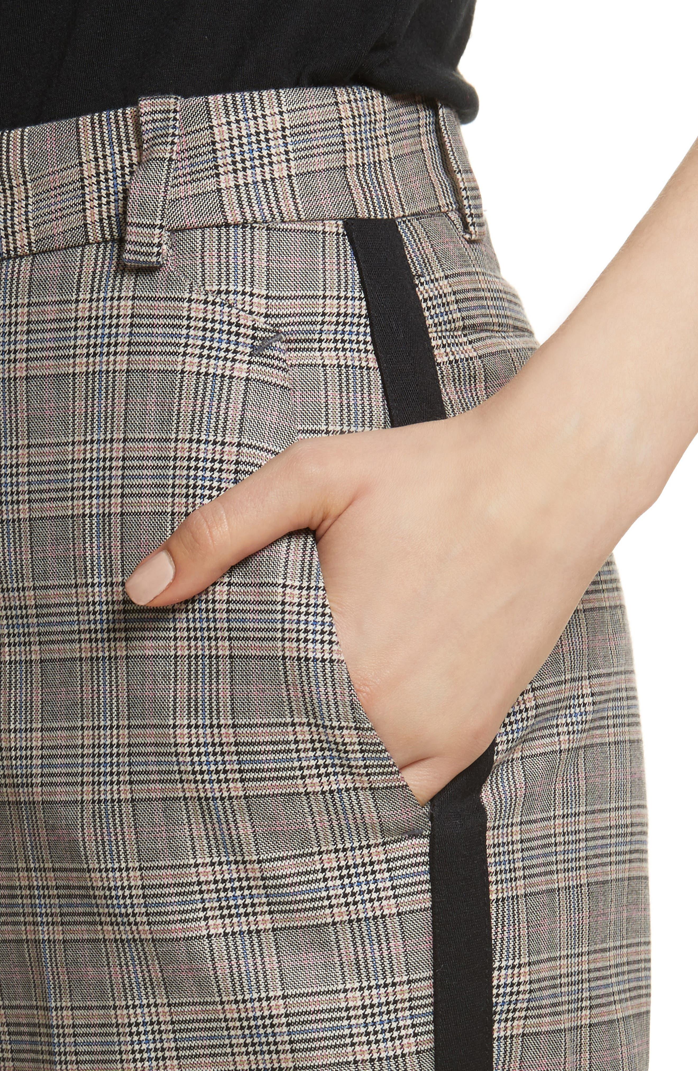 Oman Side Stripe Wool Blend Pants,                             Alternate thumbnail 4, color,                             017