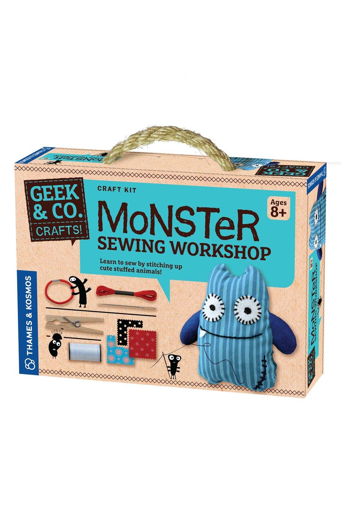 'Monster Sewing Workshop' Sewing Starter Kit,                             Main thumbnail 1, color,                             000