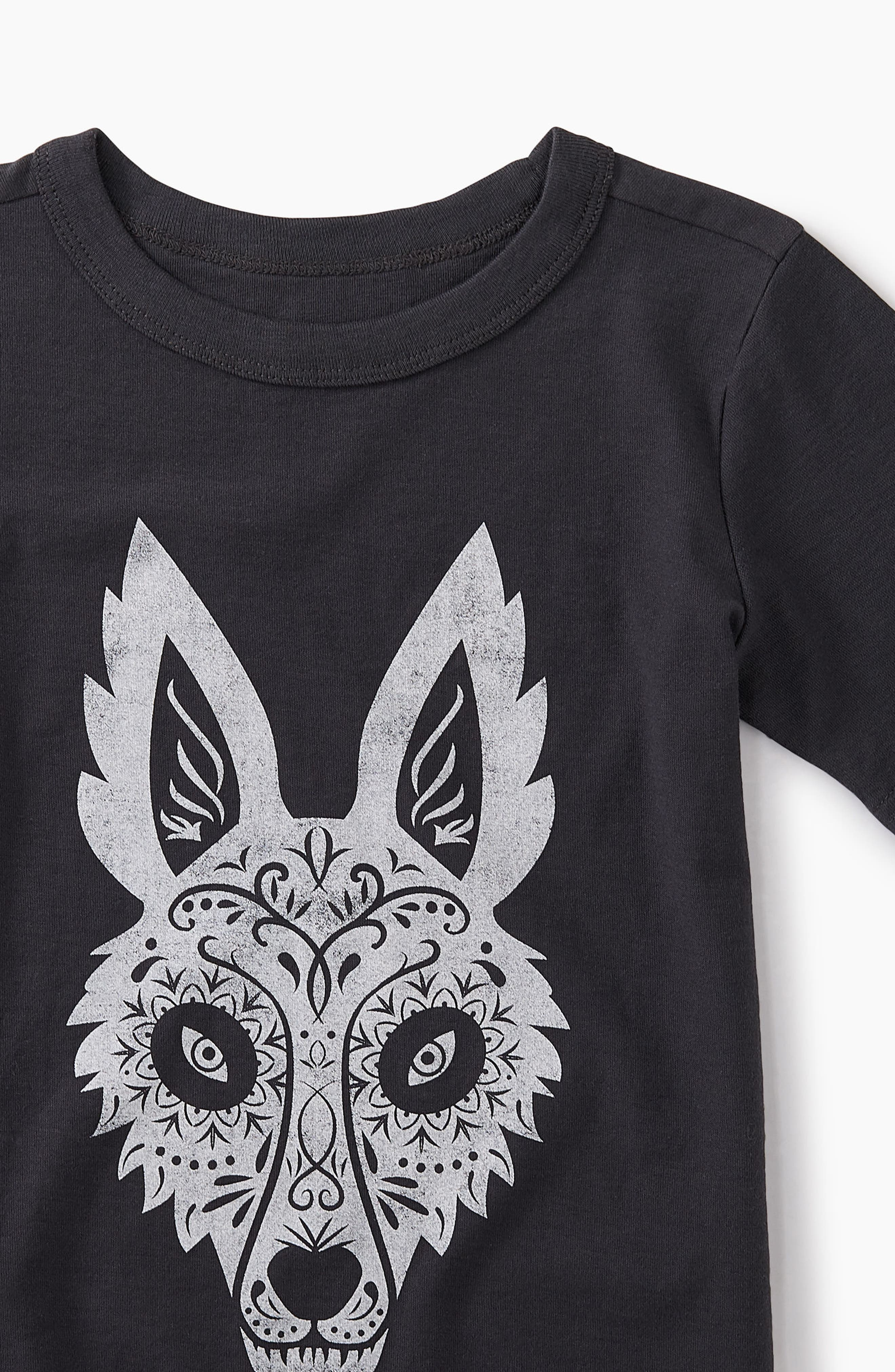 Day of the Dead Fox Graphic T-Shirt,                             Alternate thumbnail 2, color,                             002