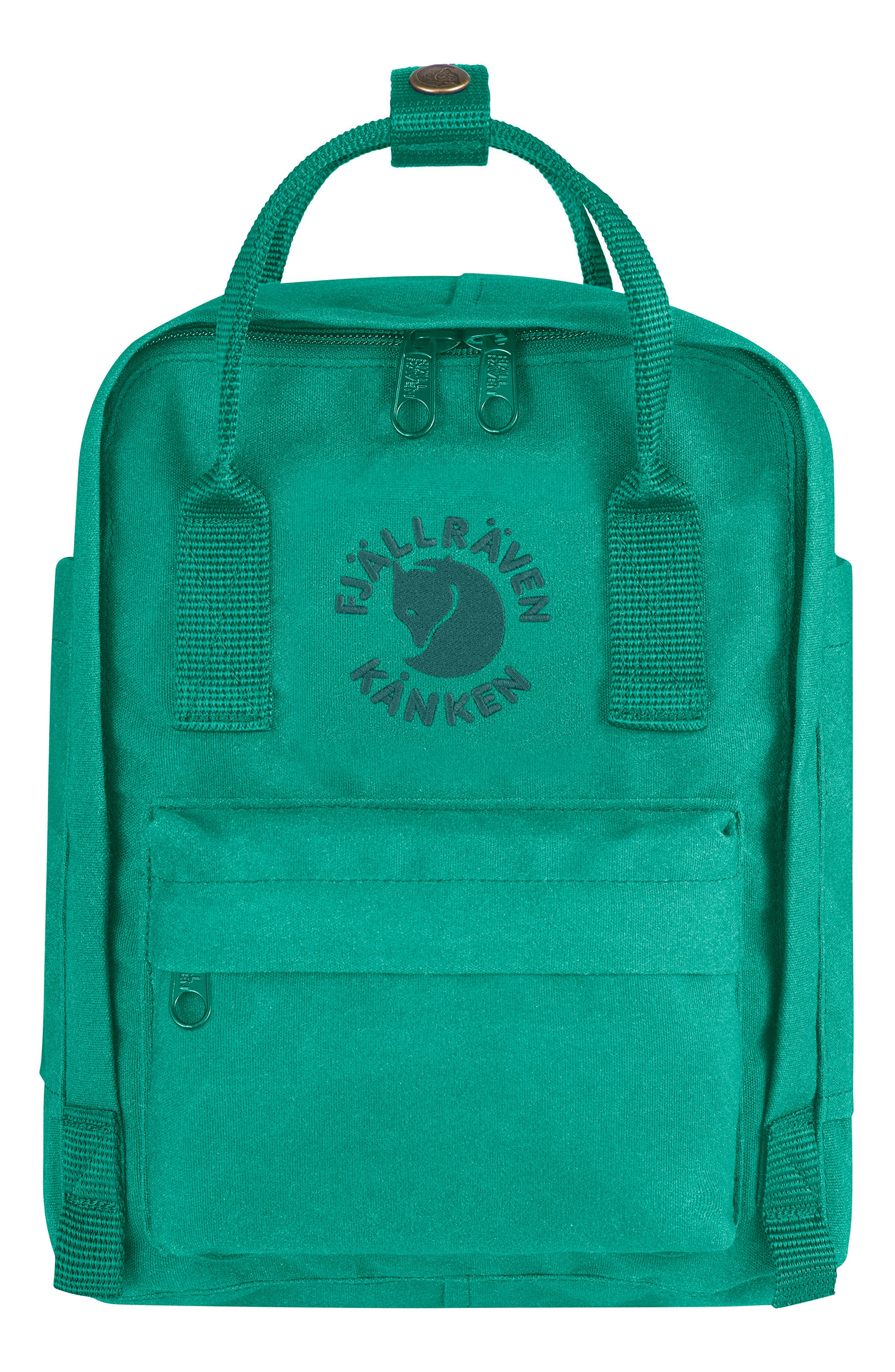 Mini Re-Kånken Water Resistant Backpack,                             Main thumbnail 1, color,                             EMERALD