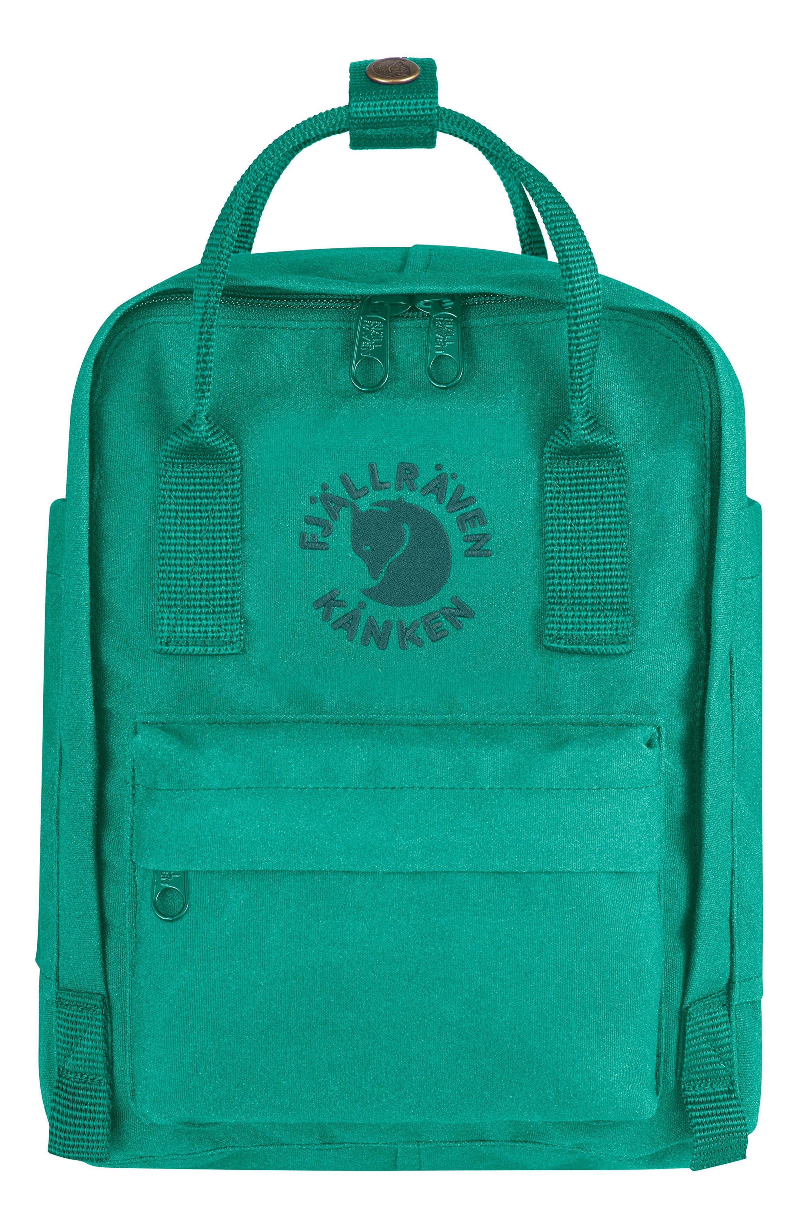 Mini Re-Kånken Water Resistant Backpack,                         Main,                         color, EMERALD