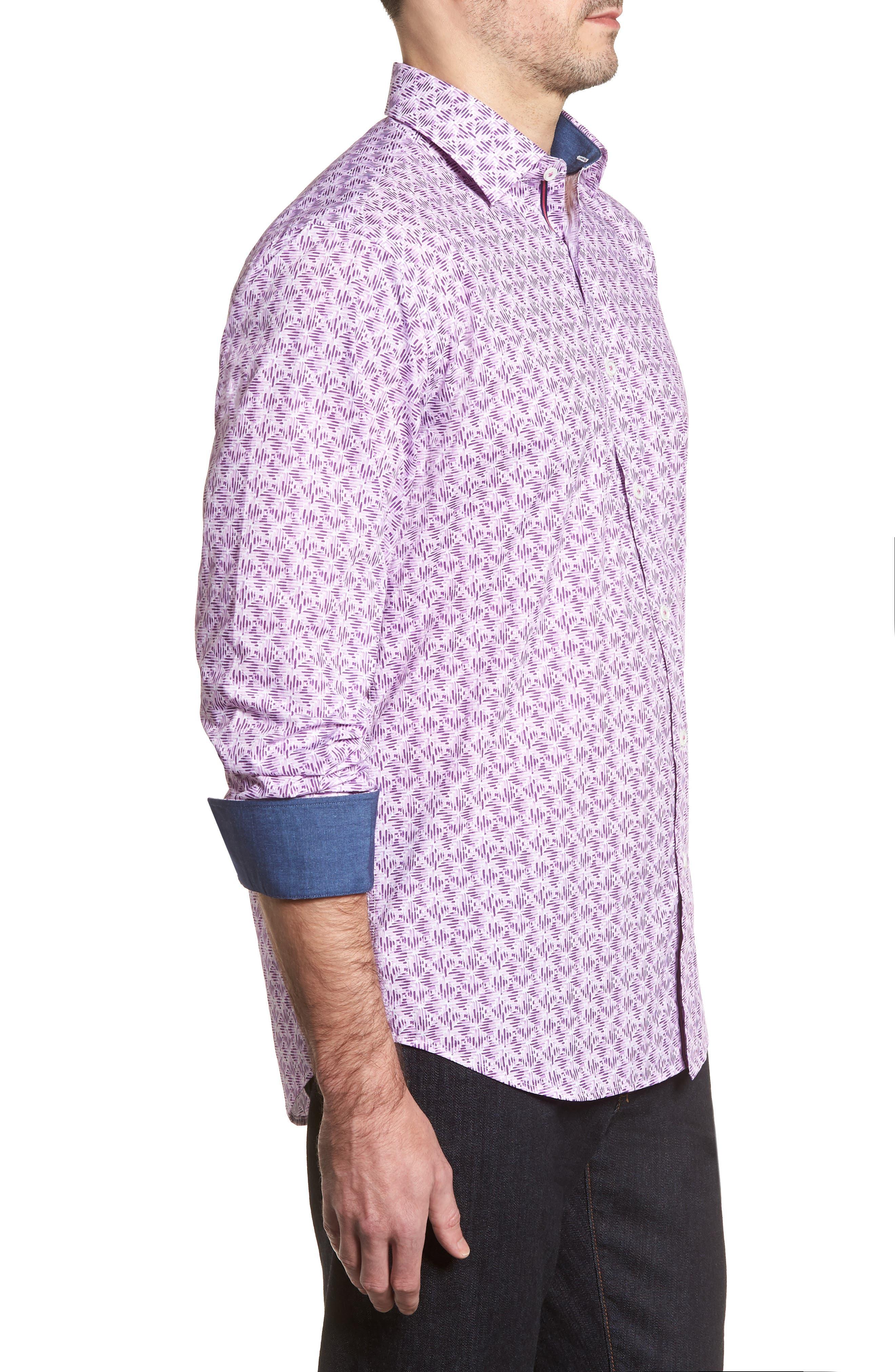 Classic Fit Woven Sport Shirt,                             Alternate thumbnail 3, color,