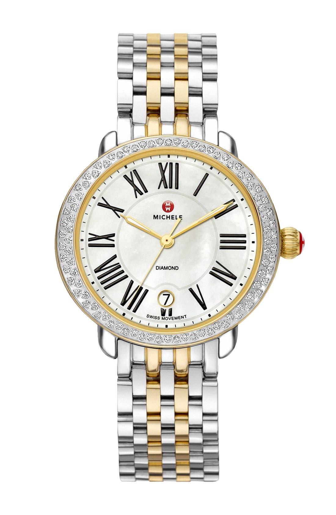 Serein 16 Diamond Watch Case, 34mm x 36mm,                             Alternate thumbnail 18, color,