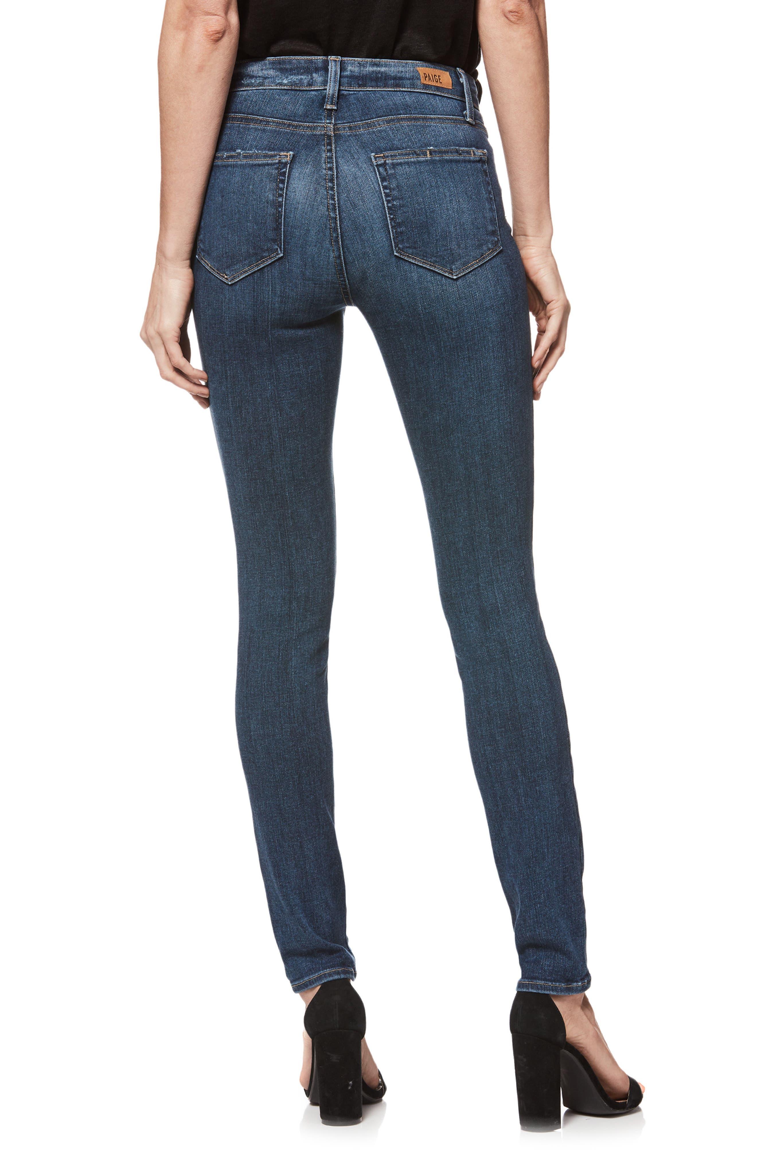 Transcend Vintage - Hoxton High Waist Ultra Skinny Jeans,                             Alternate thumbnail 2, color,                             400