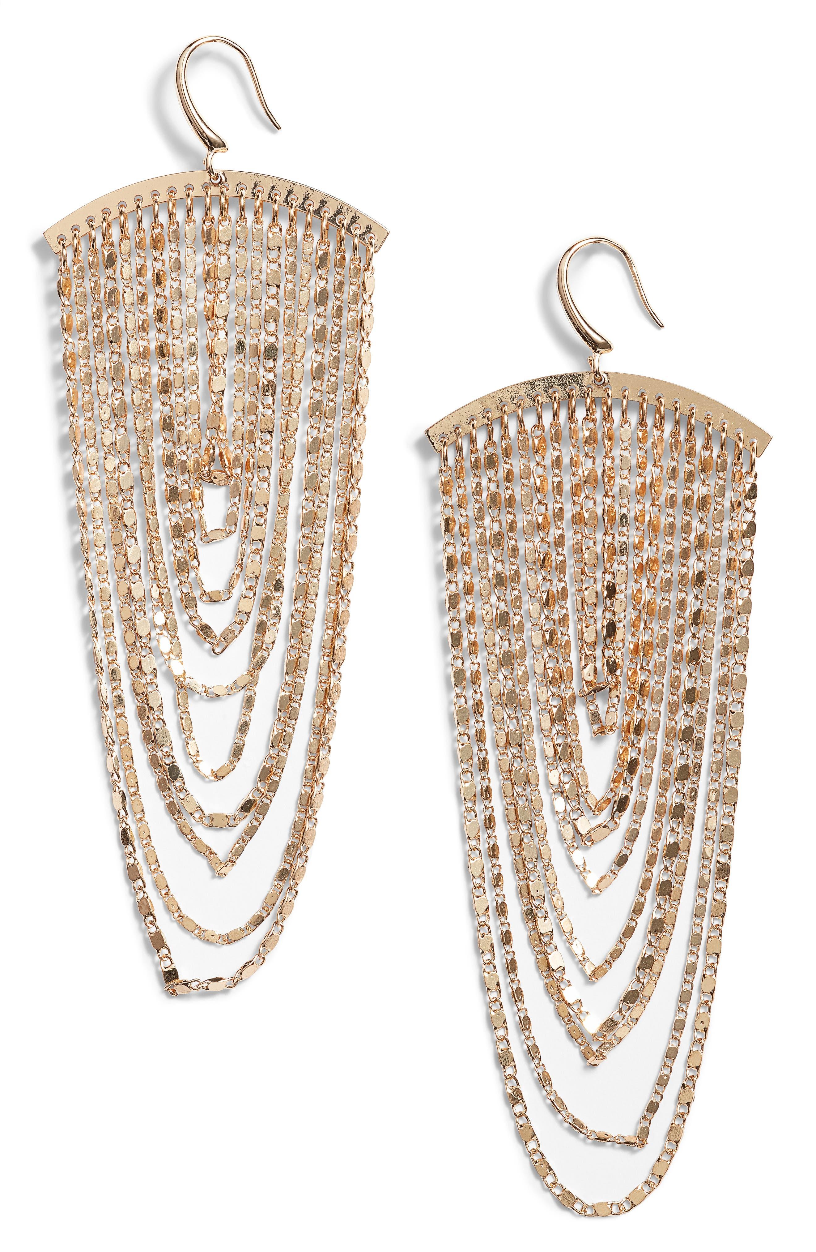 Chain Cascade Earrings,                             Main thumbnail 1, color,                             710