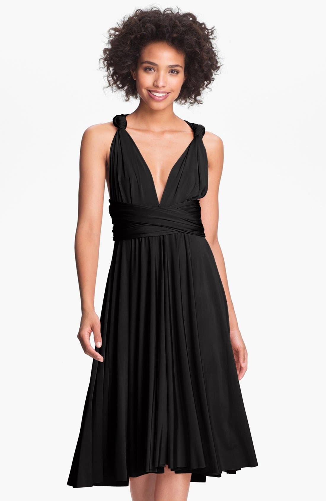 twobirds Convertible Jersey Gown,                         Main,                         color, 001