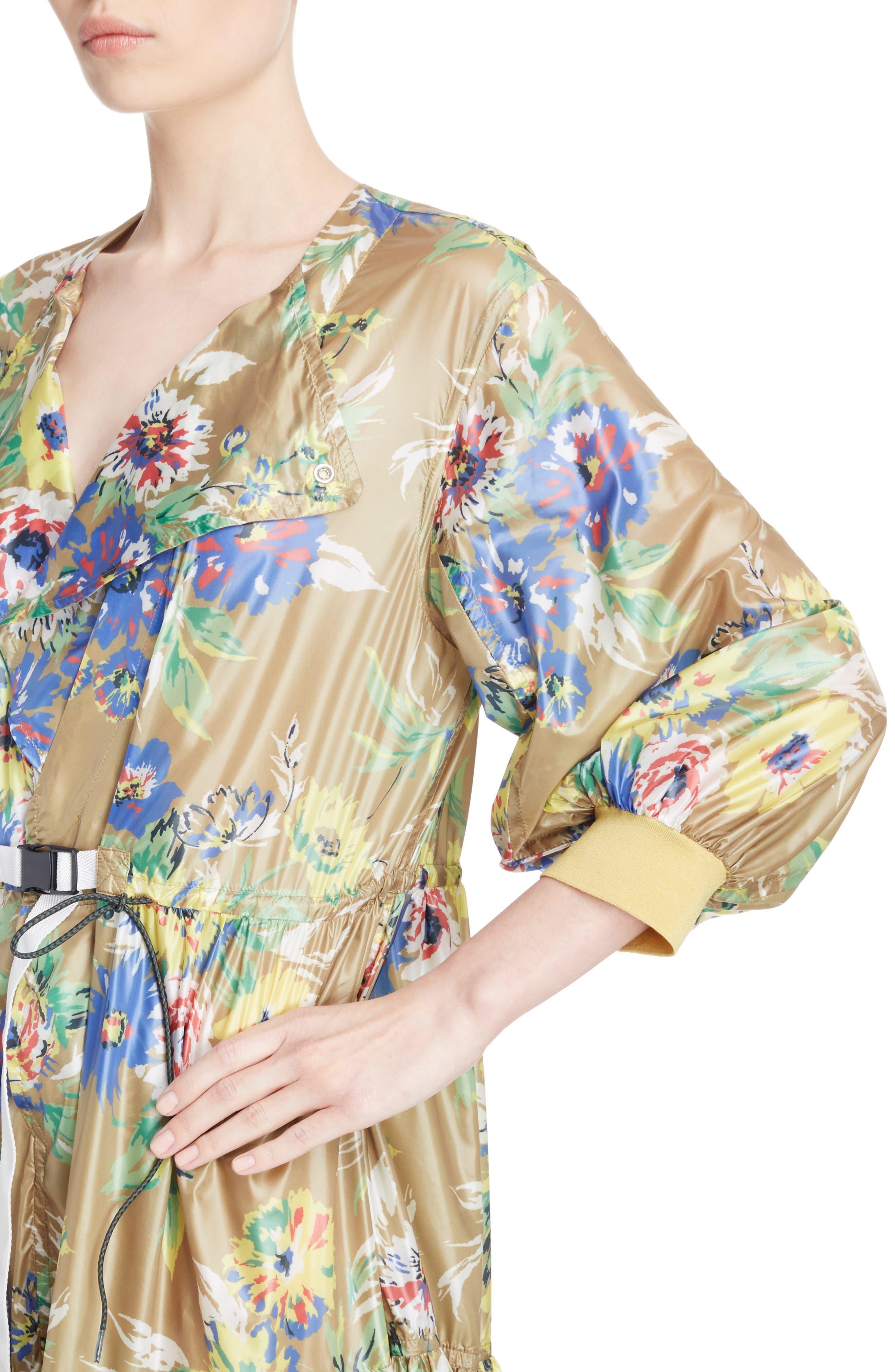 Floral Print Dress,                             Alternate thumbnail 4, color,                             700
