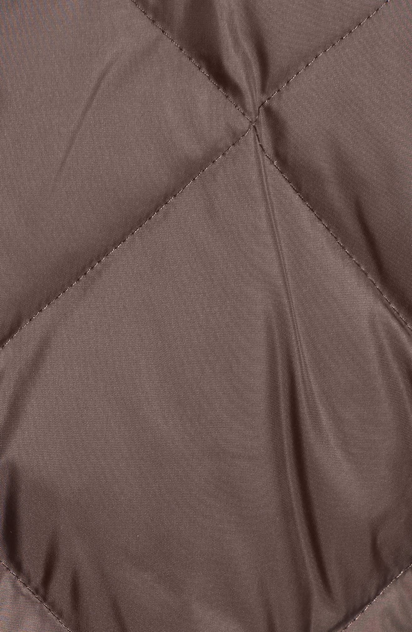 Hooded Coat with Genuine Coyote Fur Trim,                             Alternate thumbnail 6, color,                             072