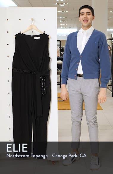 Cascading Sequin Tie Jumpsuit, sales video thumbnail