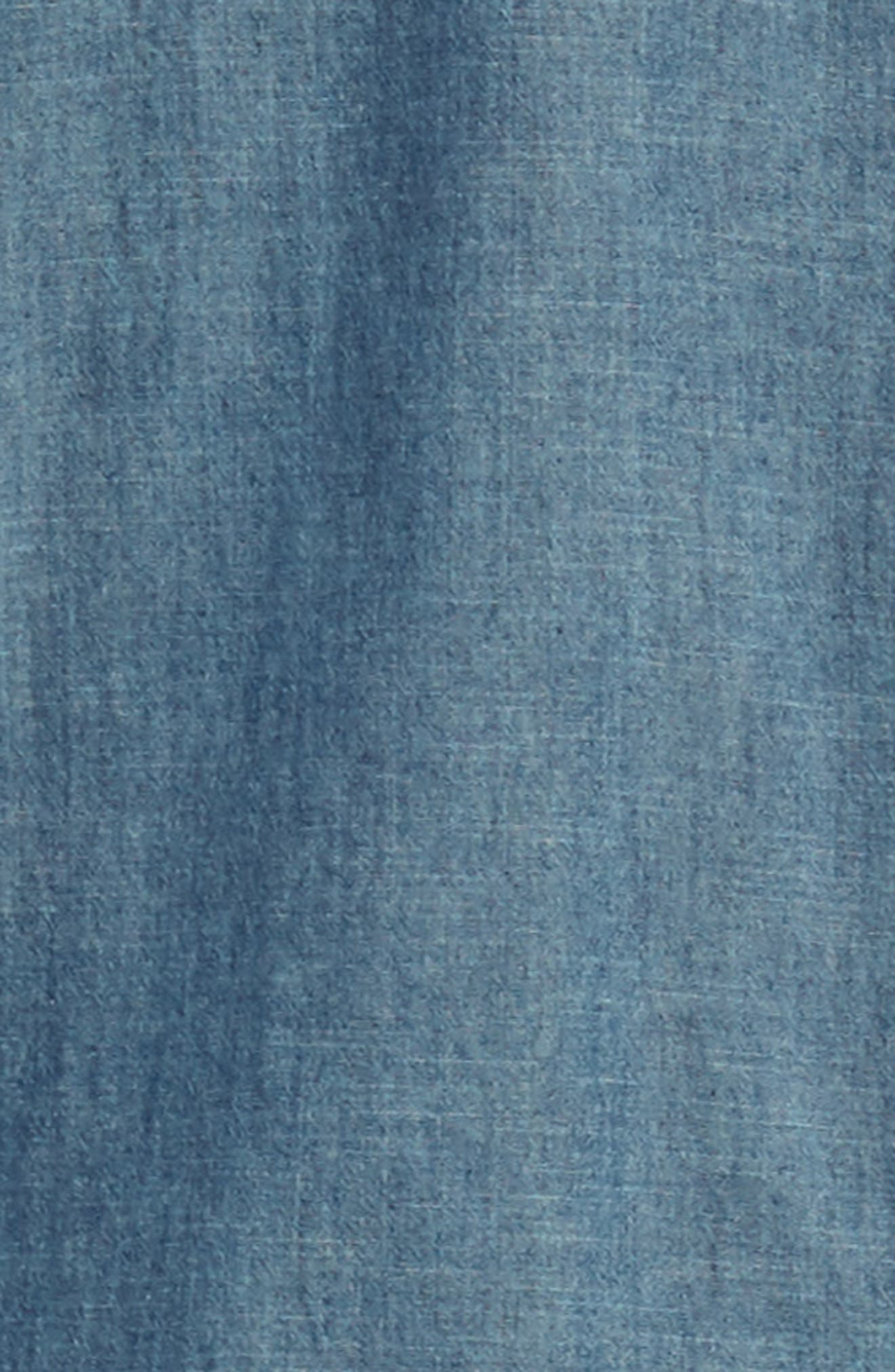Carlow Chambray Shirt,                             Alternate thumbnail 6, color,                             INDIGO CHAMBRAY
