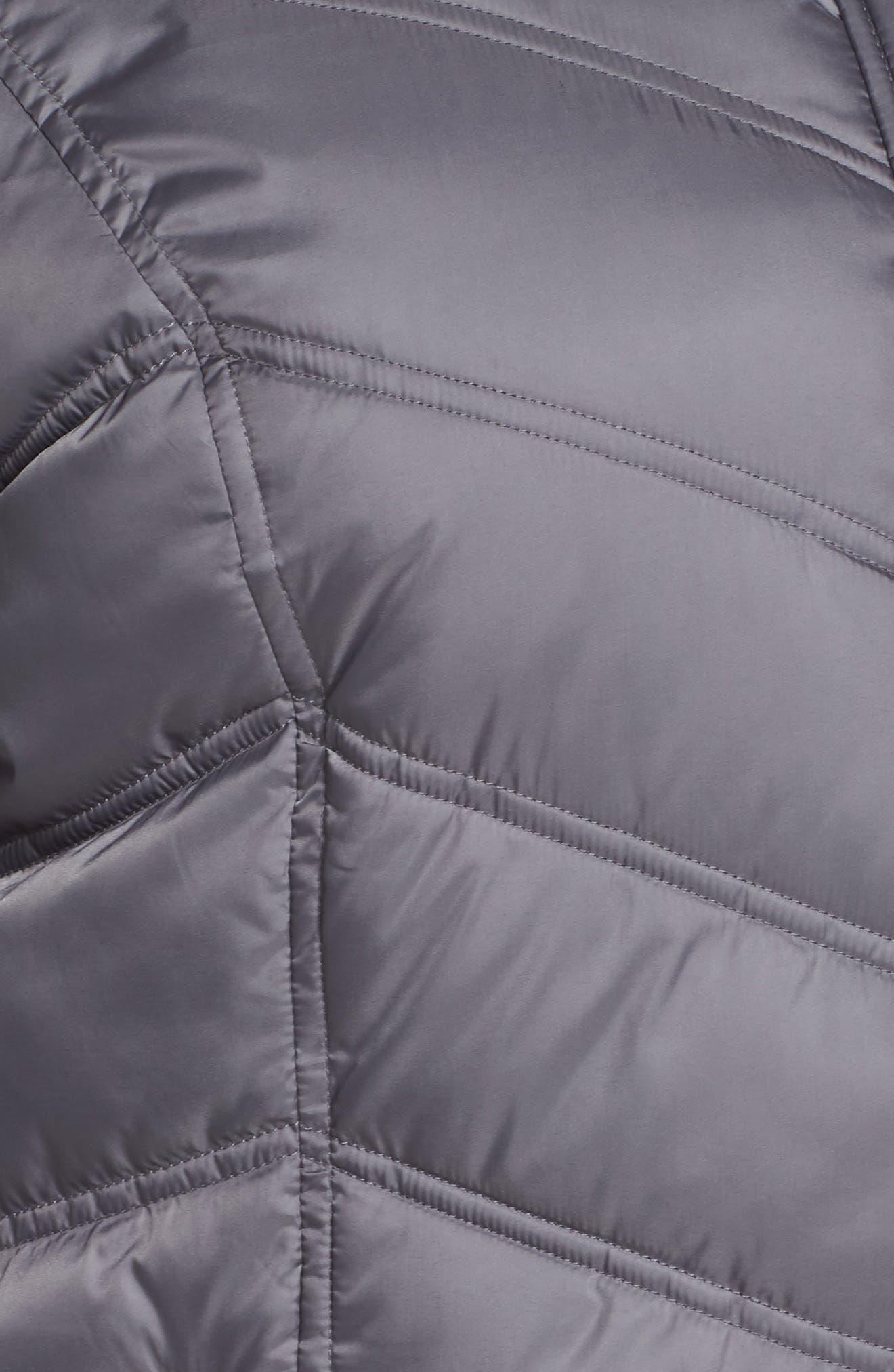 Faux Fur Trim Puffer Jacket,                             Alternate thumbnail 7, color,                             085