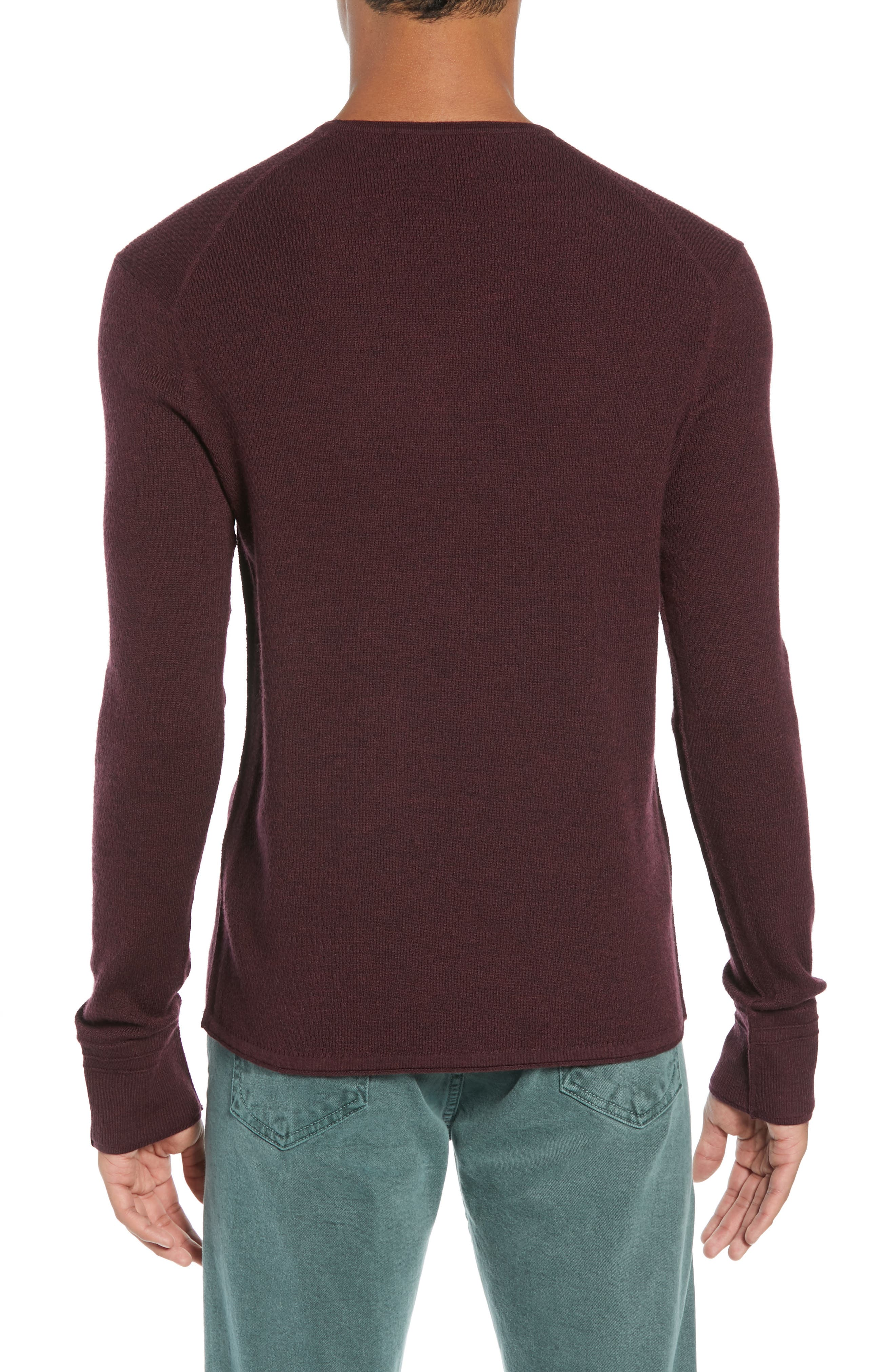 Gregory Merino Wool Blend Crewneck Sweater,                             Alternate thumbnail 2, color,                             BURGUNDY