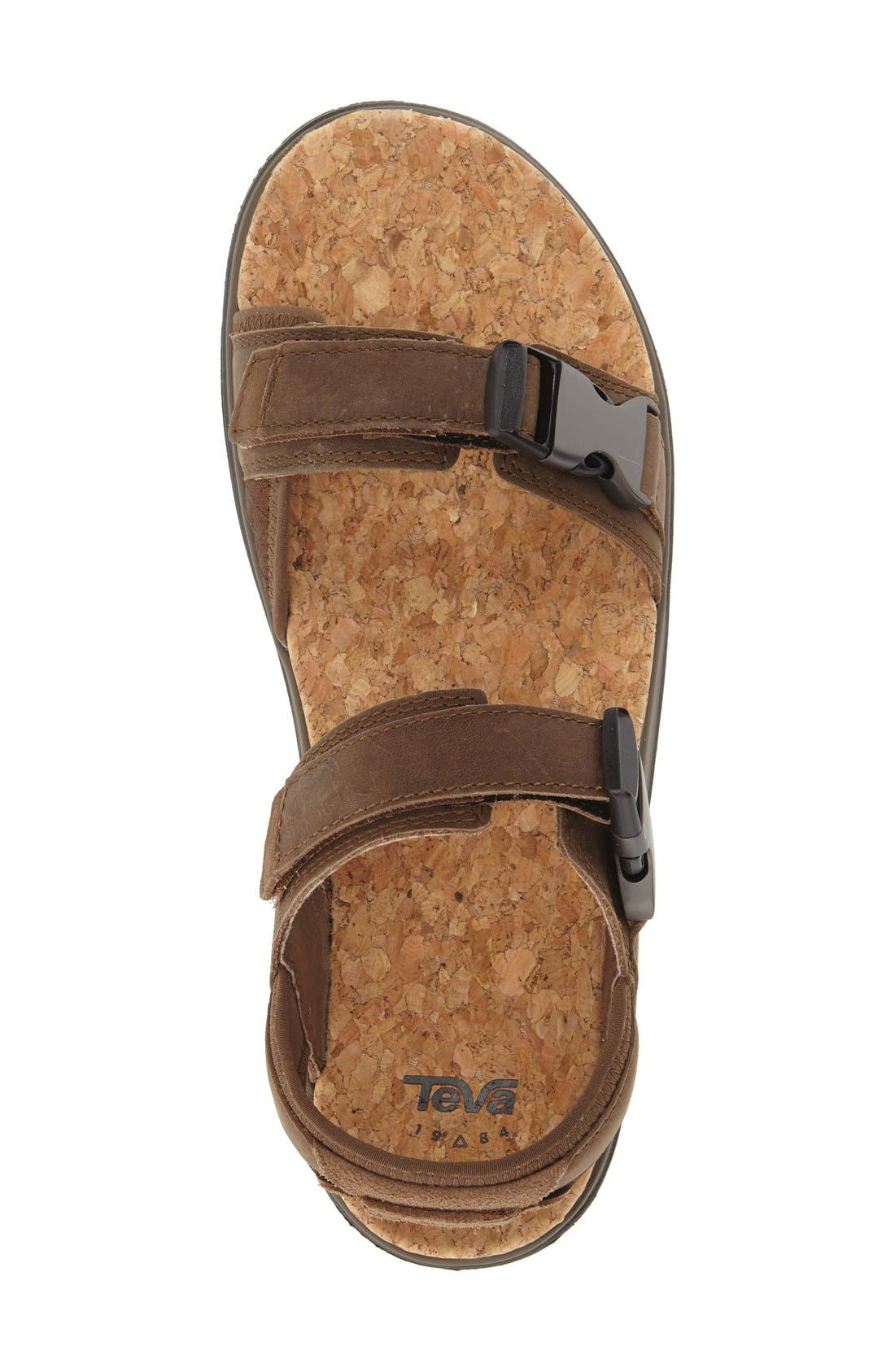 'Terra-Float Universal Lux' Sport Sandal,                             Alternate thumbnail 3, color,                             BROWN
