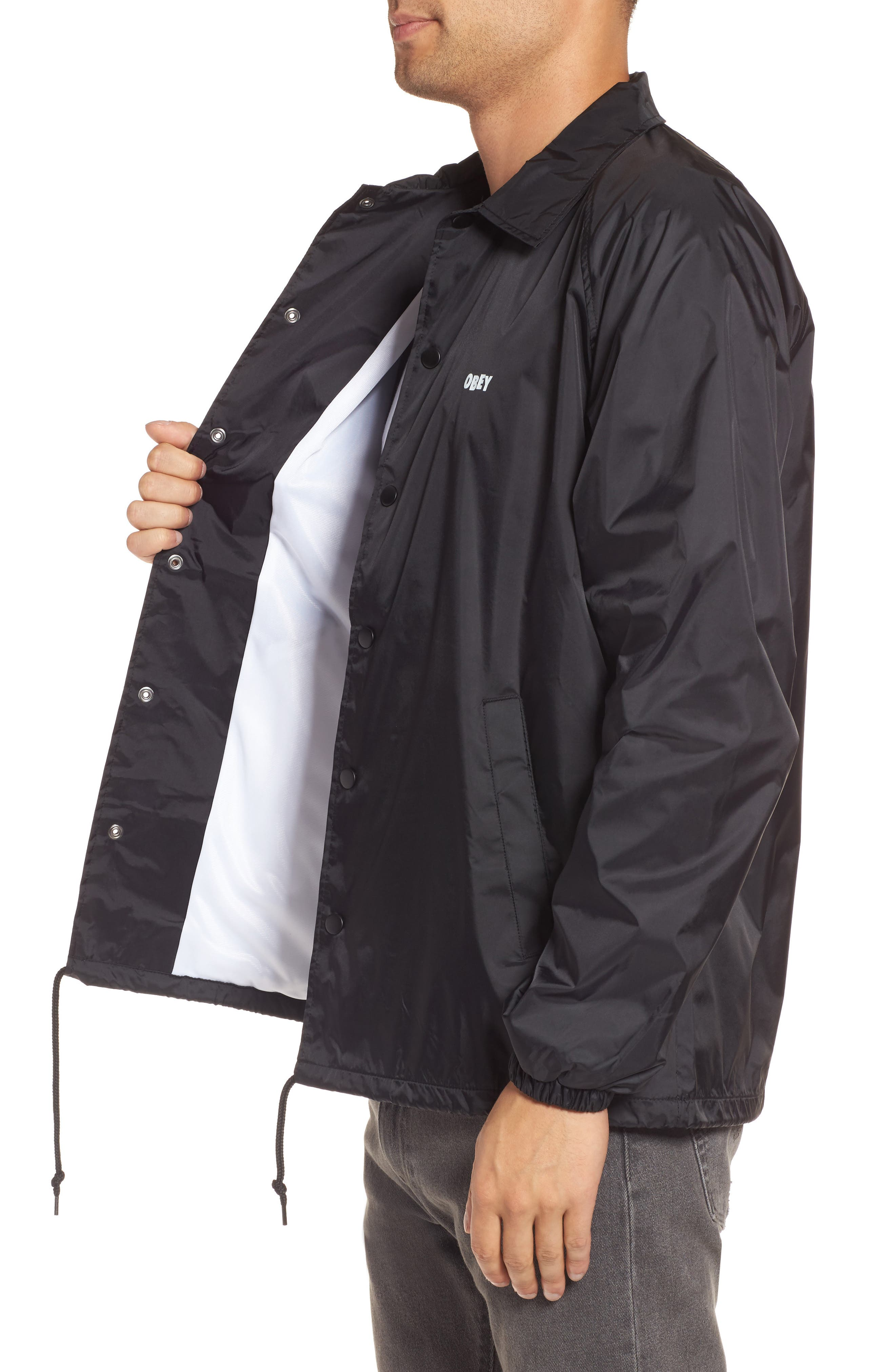 Lo-Fi Graphic Coach's Jacket,                             Alternate thumbnail 3, color,                             001