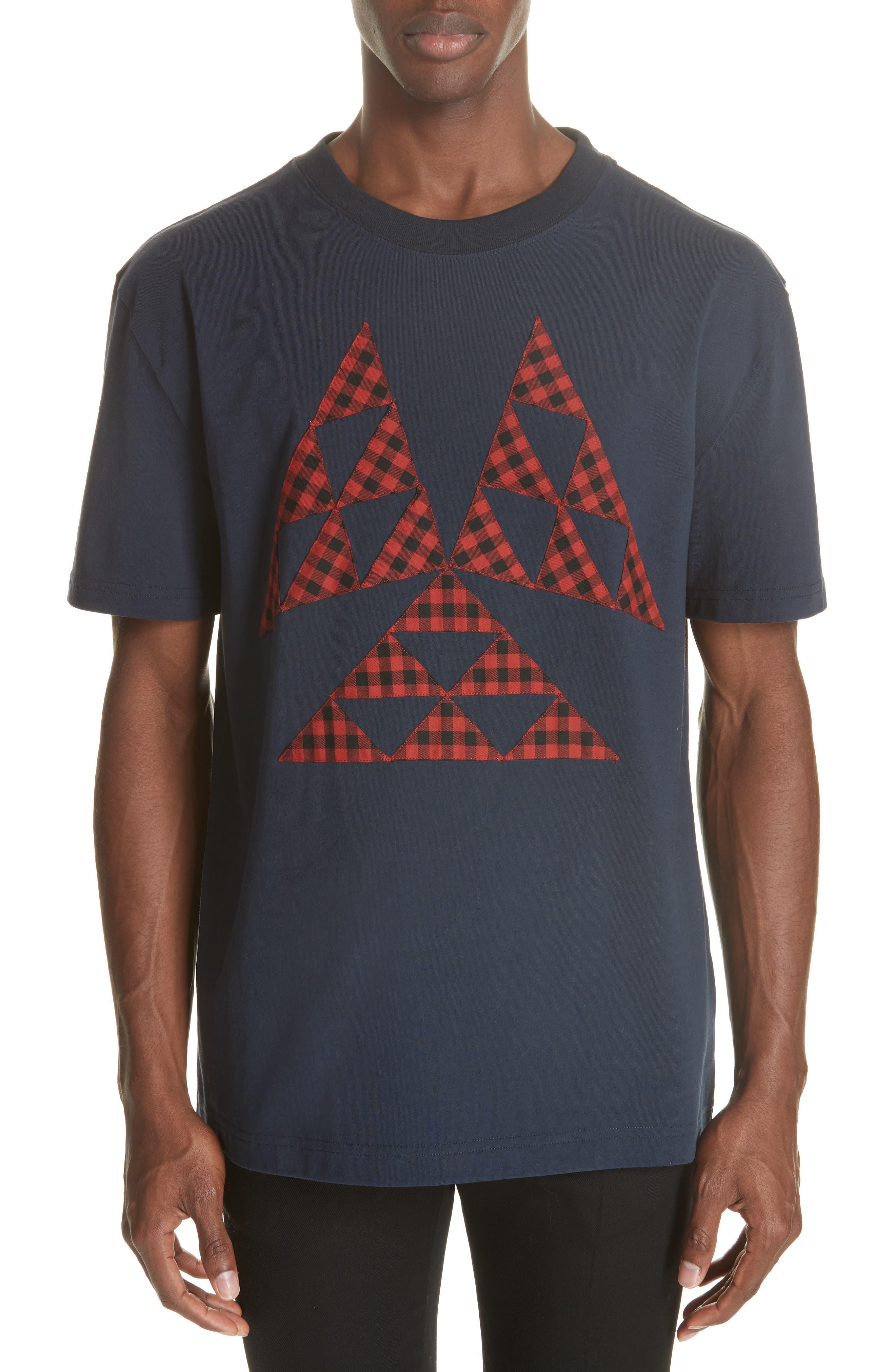 Patchwork T-Shirt,                         Main,                         color, NAVY