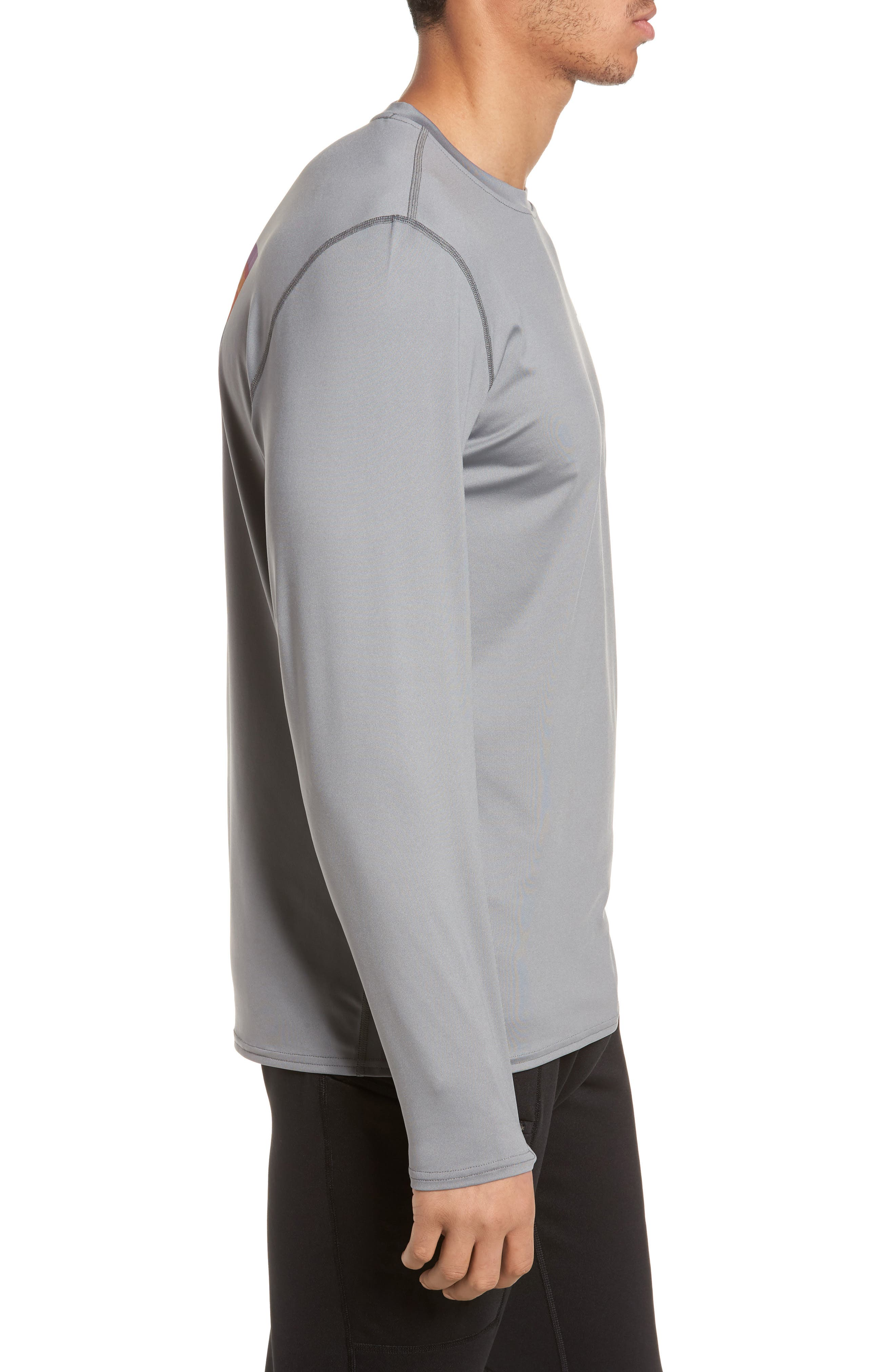 RØ<sup>®</sup> Sun Long Sleeve T-Shirt,                             Alternate thumbnail 3, color,                             FEATHER GREY