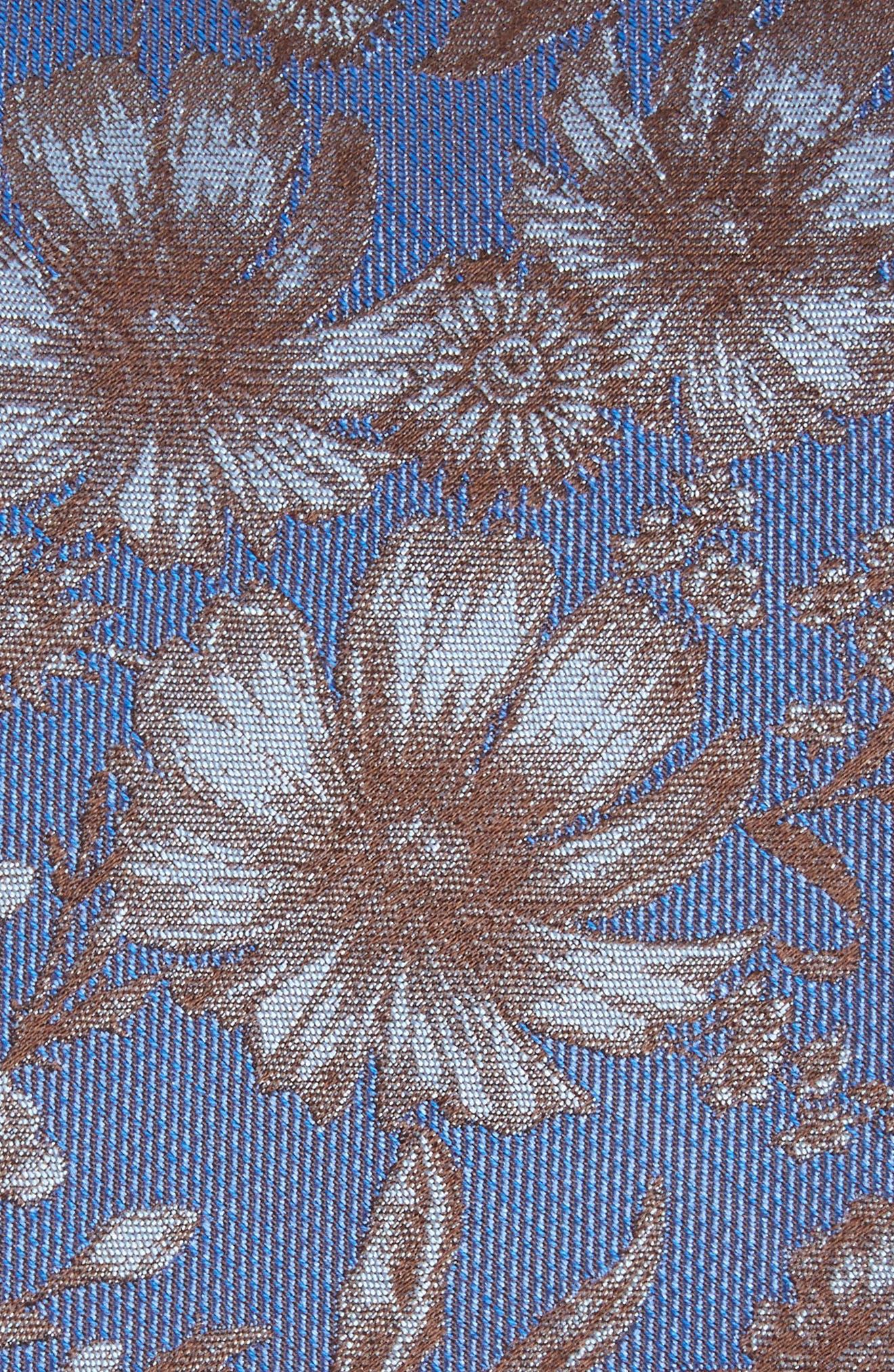 Fletcher Floral Print Silk & Cotton Tie,                             Alternate thumbnail 2, color,                             432