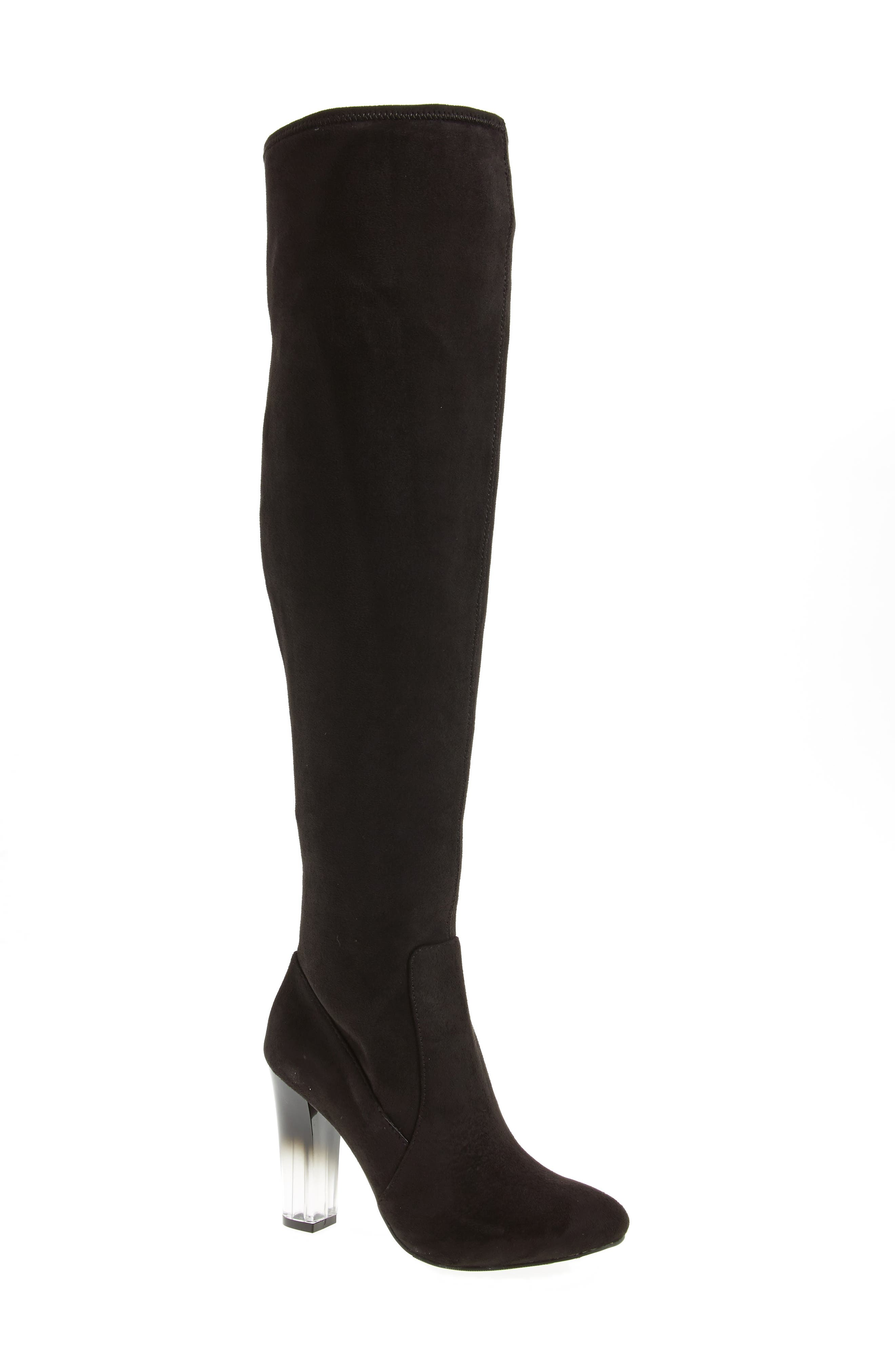 Icelyn Over the Knee Stretch Boot,                             Main thumbnail 1, color,                             006