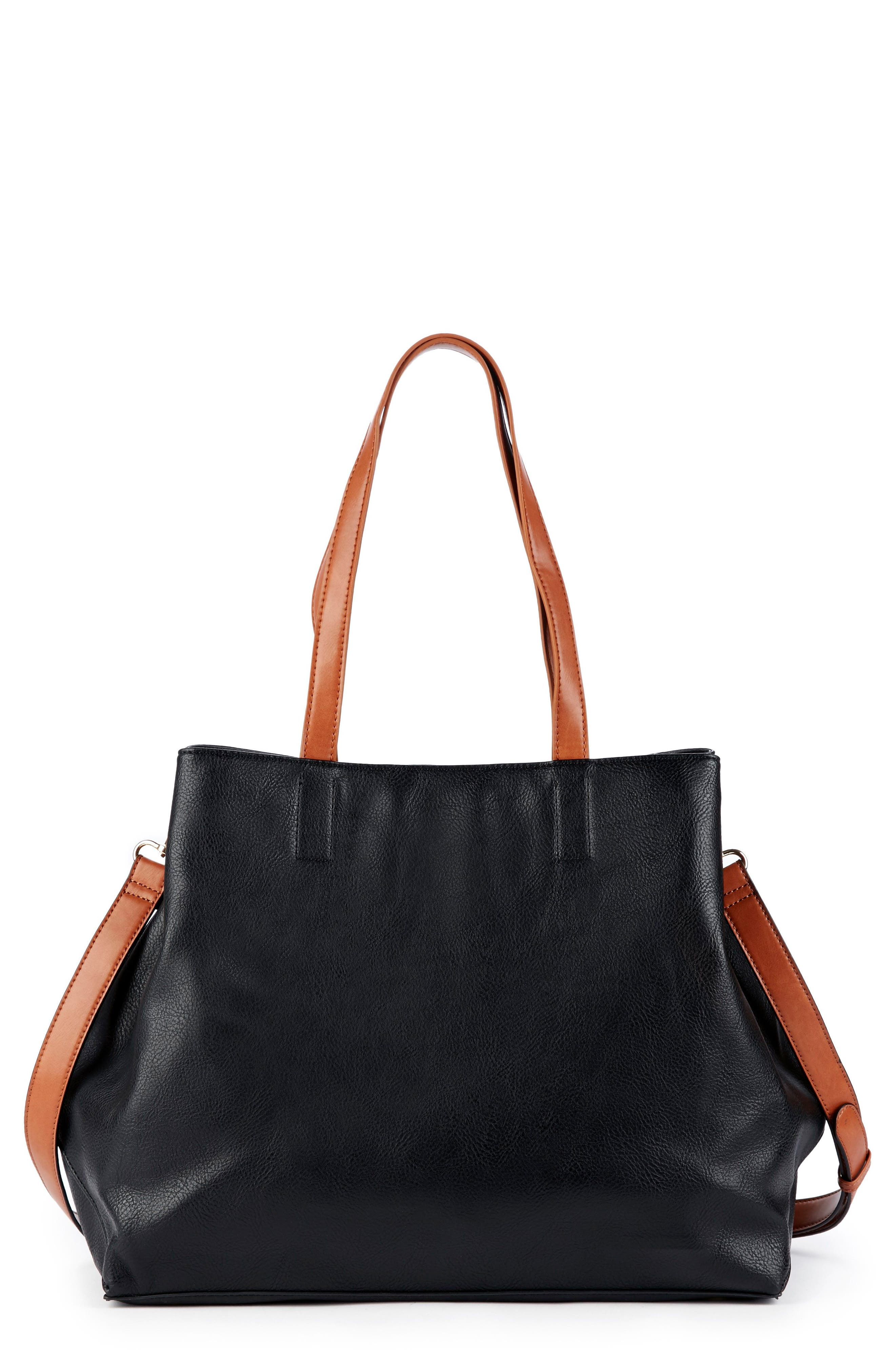 Hester Faux Leather Tote,                             Main thumbnail 1, color,                             001