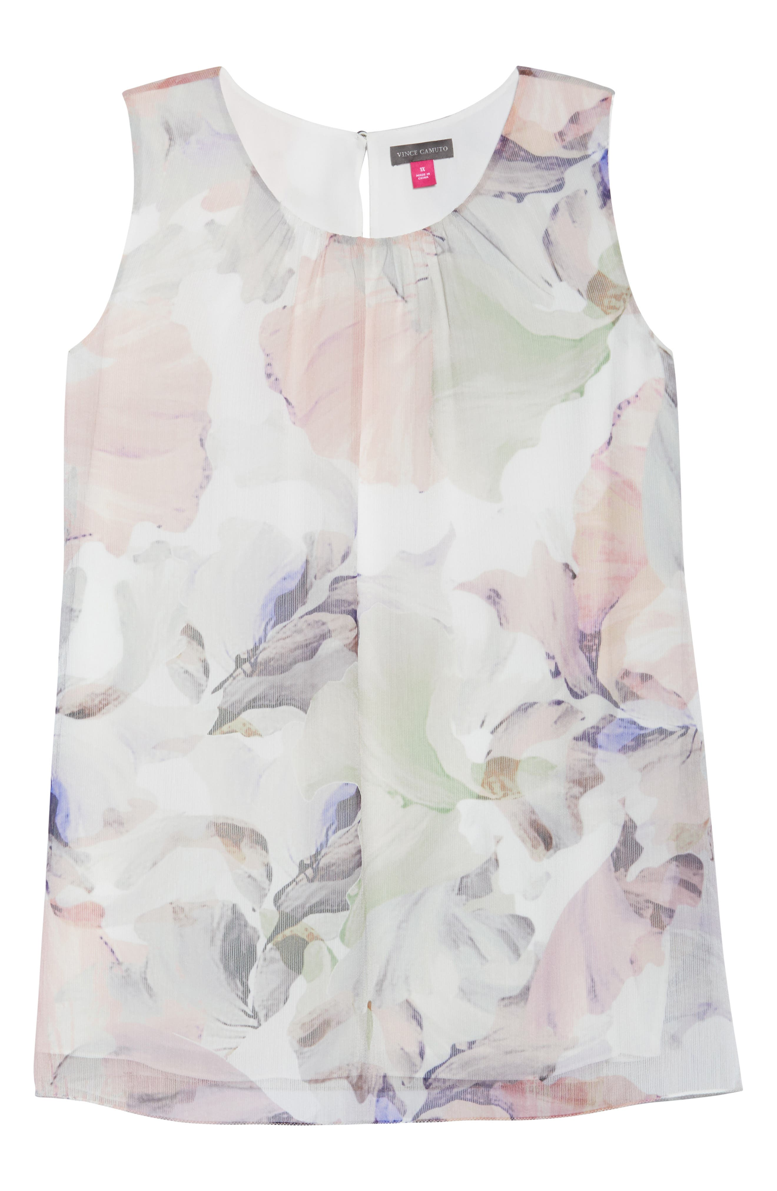 VINCE CAMUTO,                             Diffused Blooms Blouse,                             Alternate thumbnail 7, color,                             903