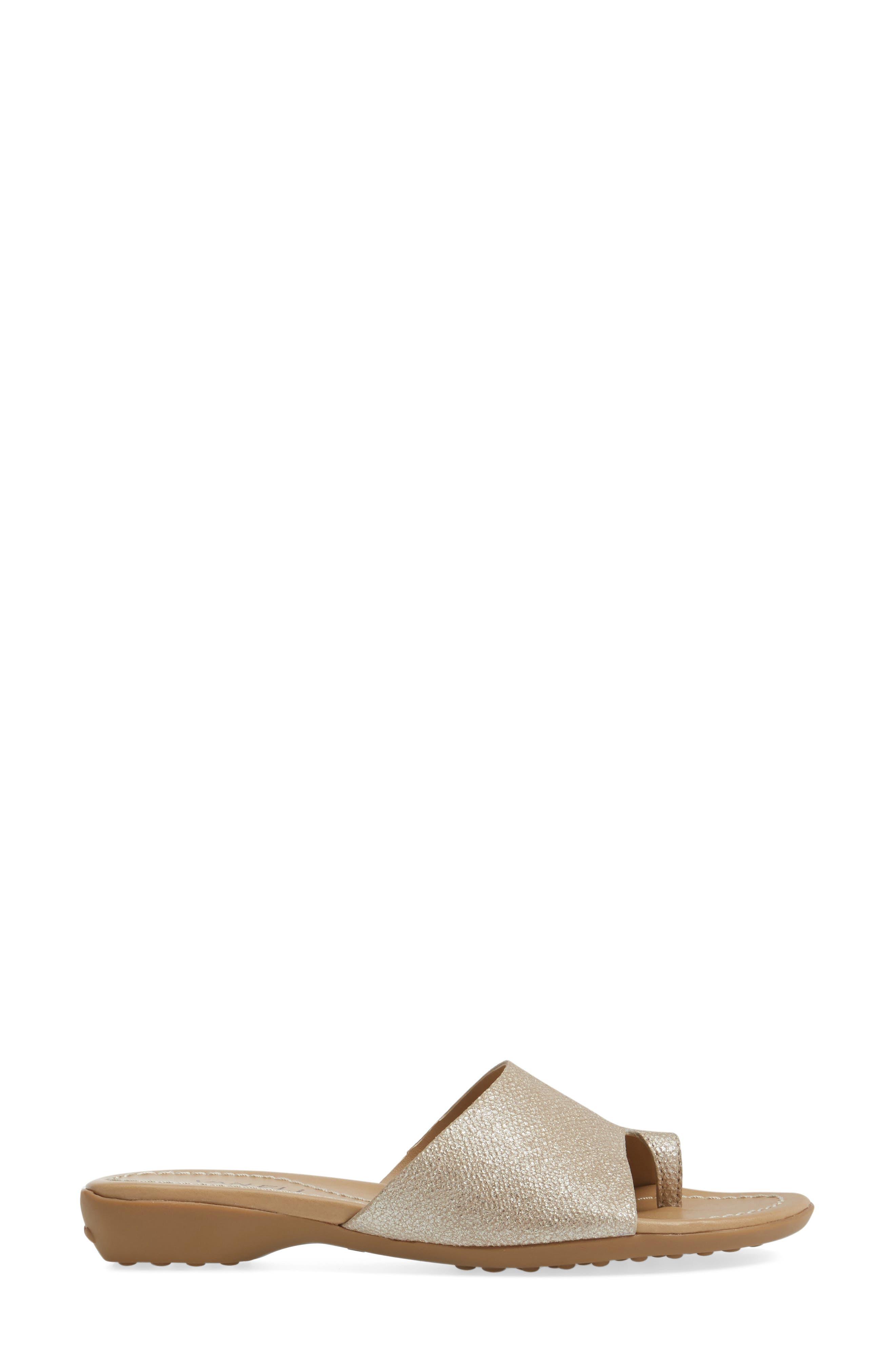 'Tallis' Snake Embossed Leather Slide Sandal,                             Alternate thumbnail 17, color,