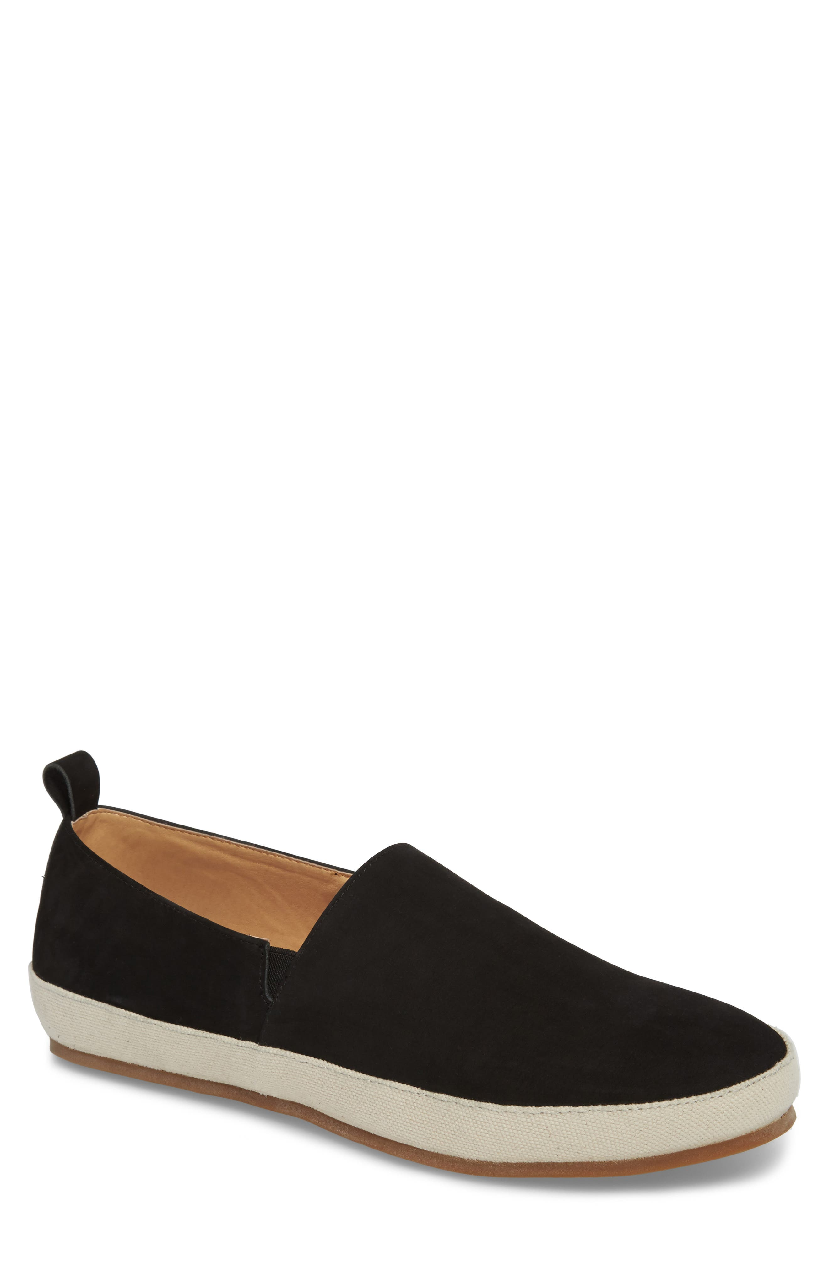 Wynne Slip-On,                             Main thumbnail 1, color,                             BLACK SUEDE
