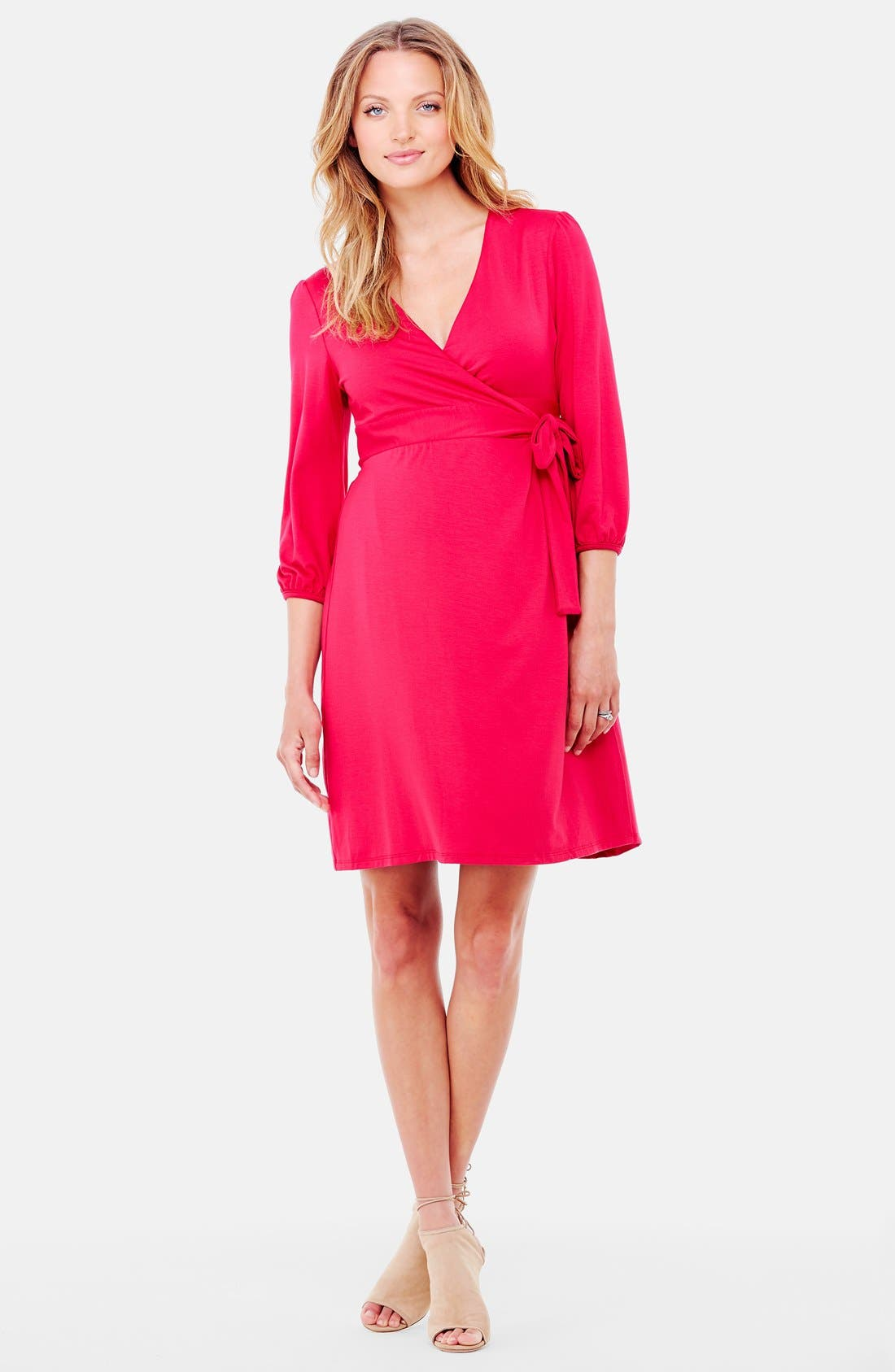 Nursing Friendly Maternity Wrap Dress,                             Main thumbnail 5, color,