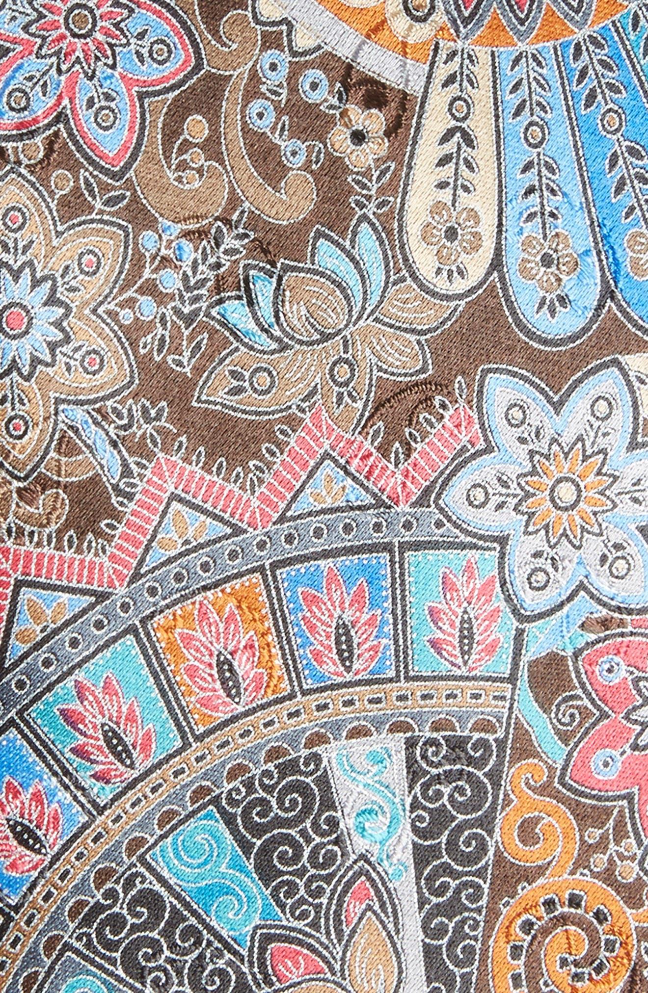 Quindici Paisley Silk Tie,                             Alternate thumbnail 2, color,                             218