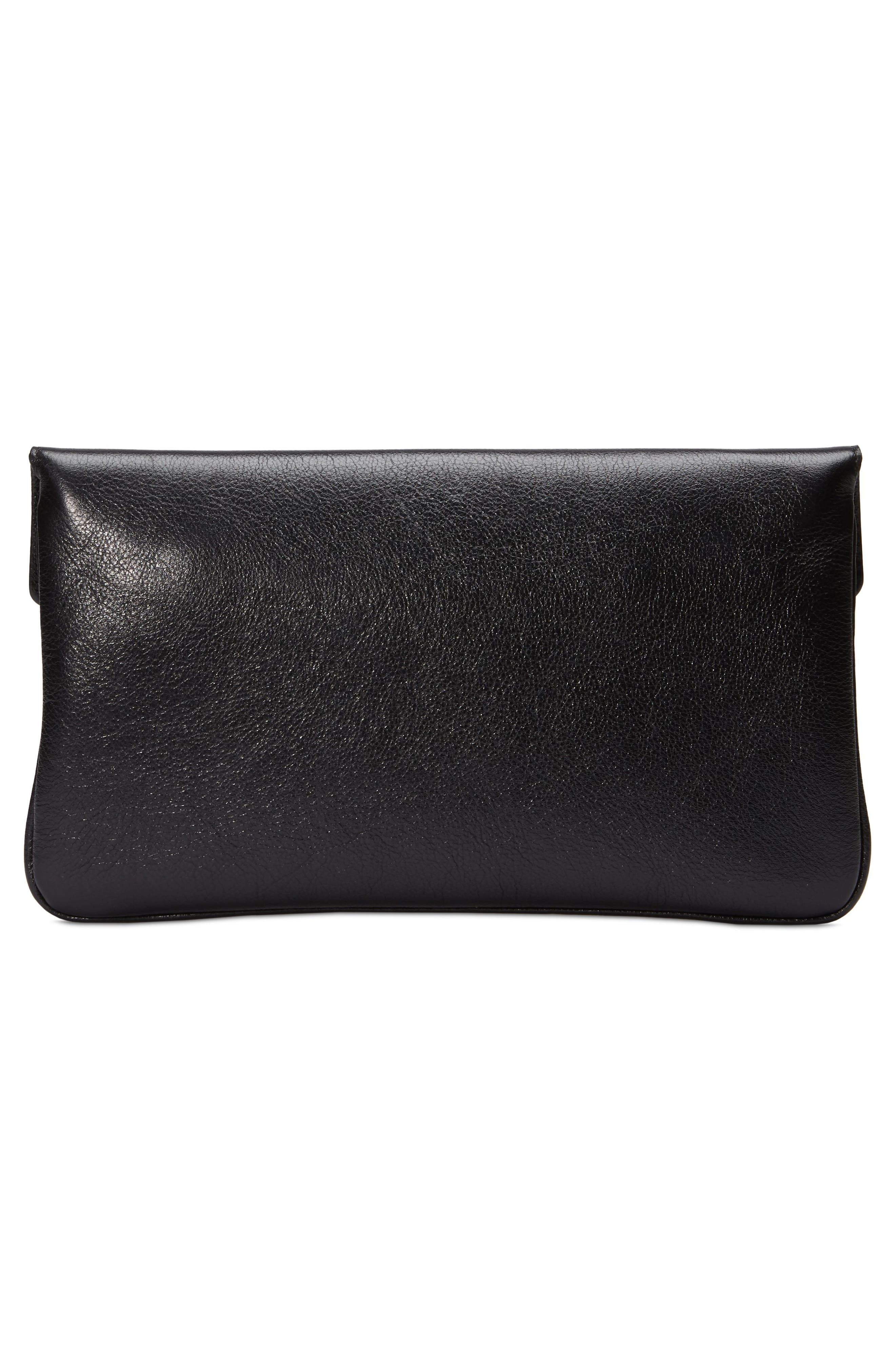 Broadway Crystal GG Leather Envelope Clutch,                             Alternate thumbnail 2, color,                             001