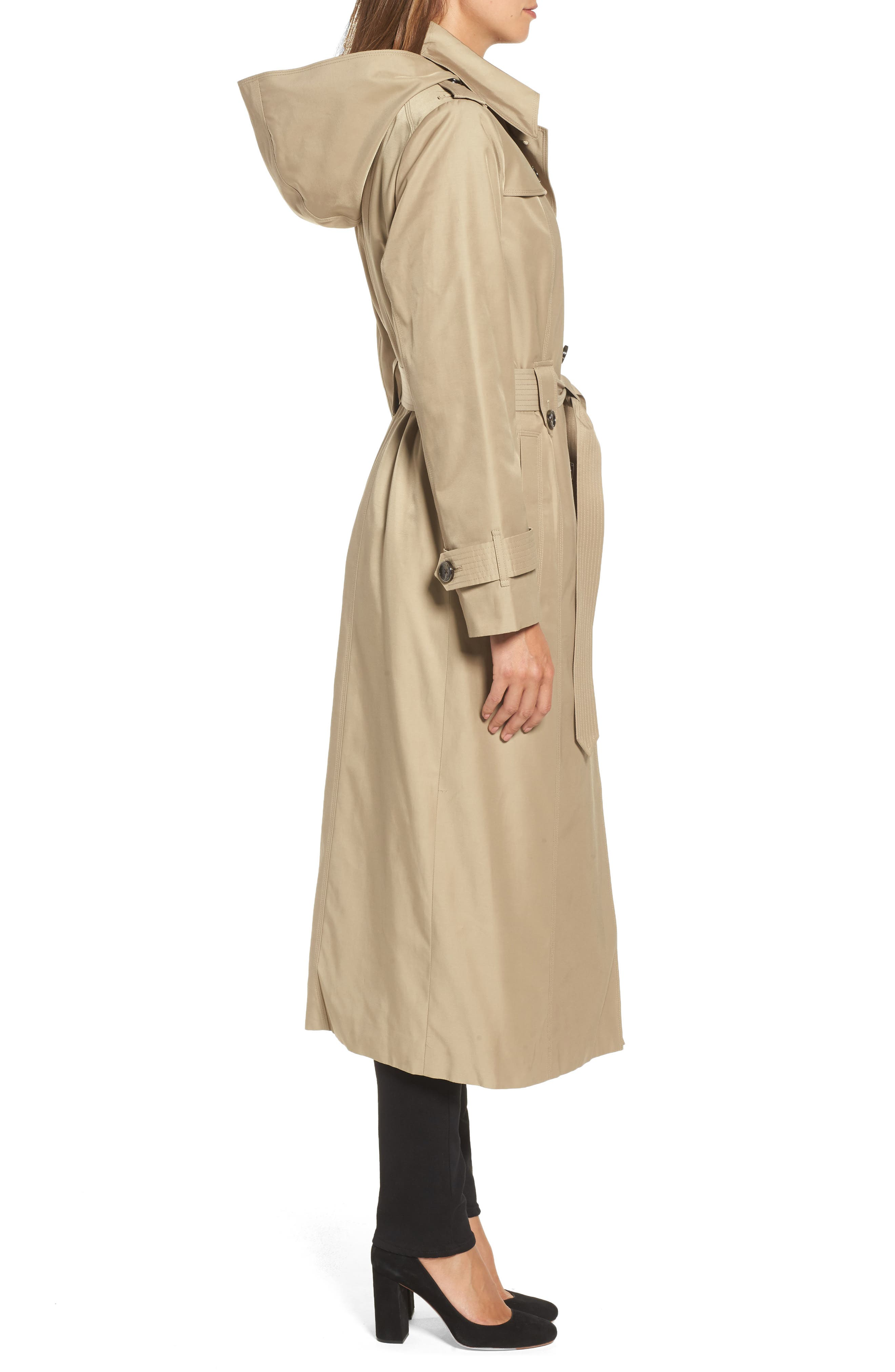 Long Trench Coat,                             Alternate thumbnail 6, color,