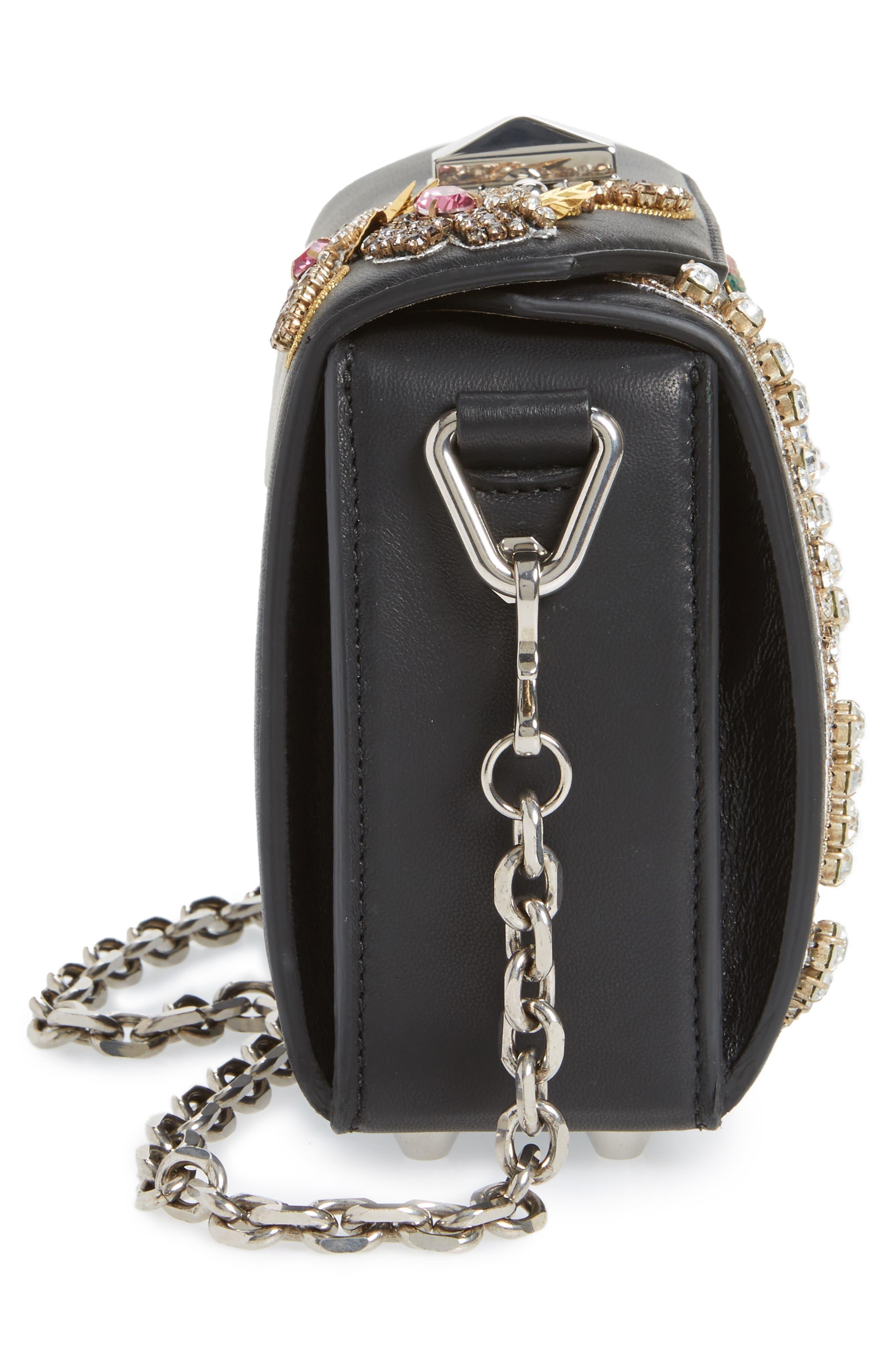 Box Bag 16 Embellished Lambskin Leather Bag,                             Alternate thumbnail 6, color,