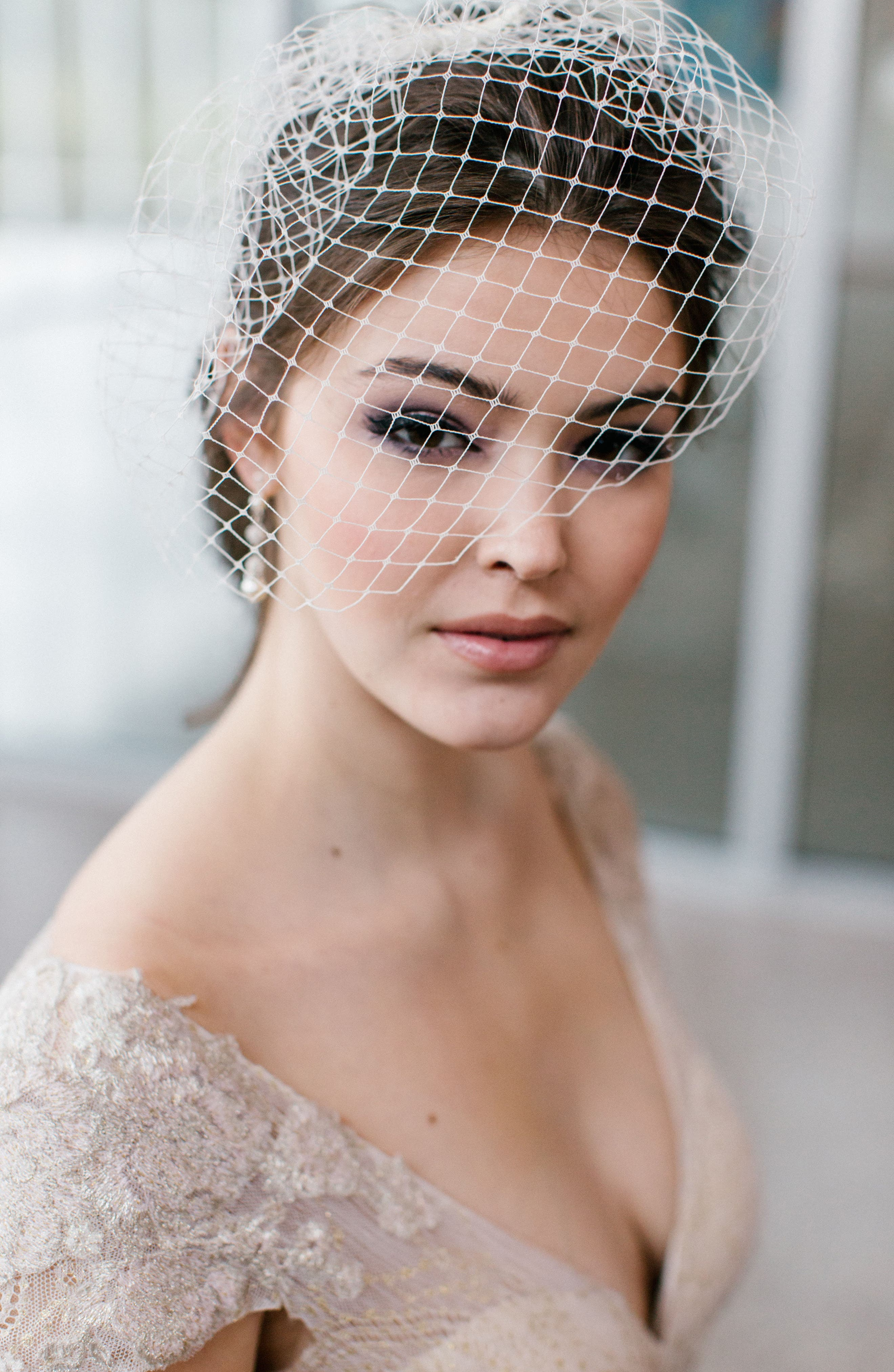 Dixie Birdcage Veil,                             Main thumbnail 1, color,                             LIGHT IVORY