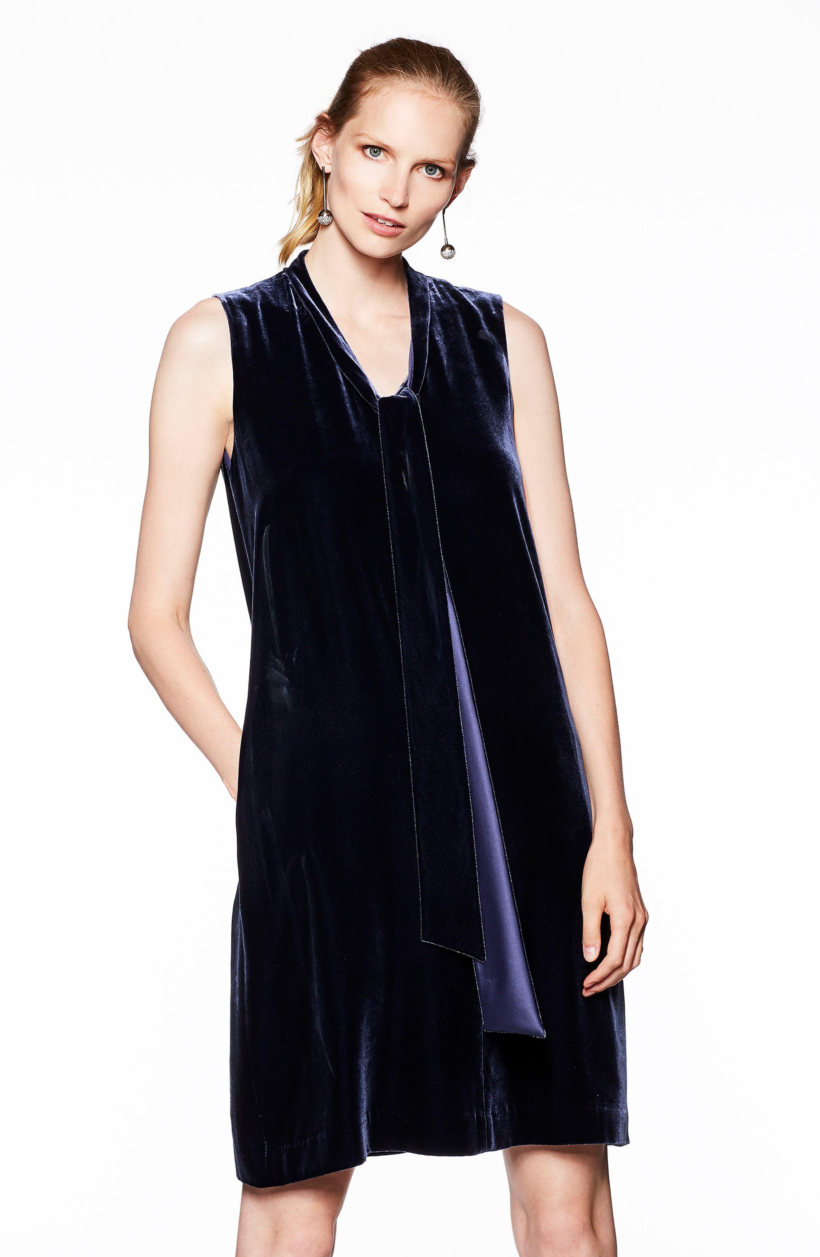 Ronan Velvet Dress,                             Alternate thumbnail 11, color,
