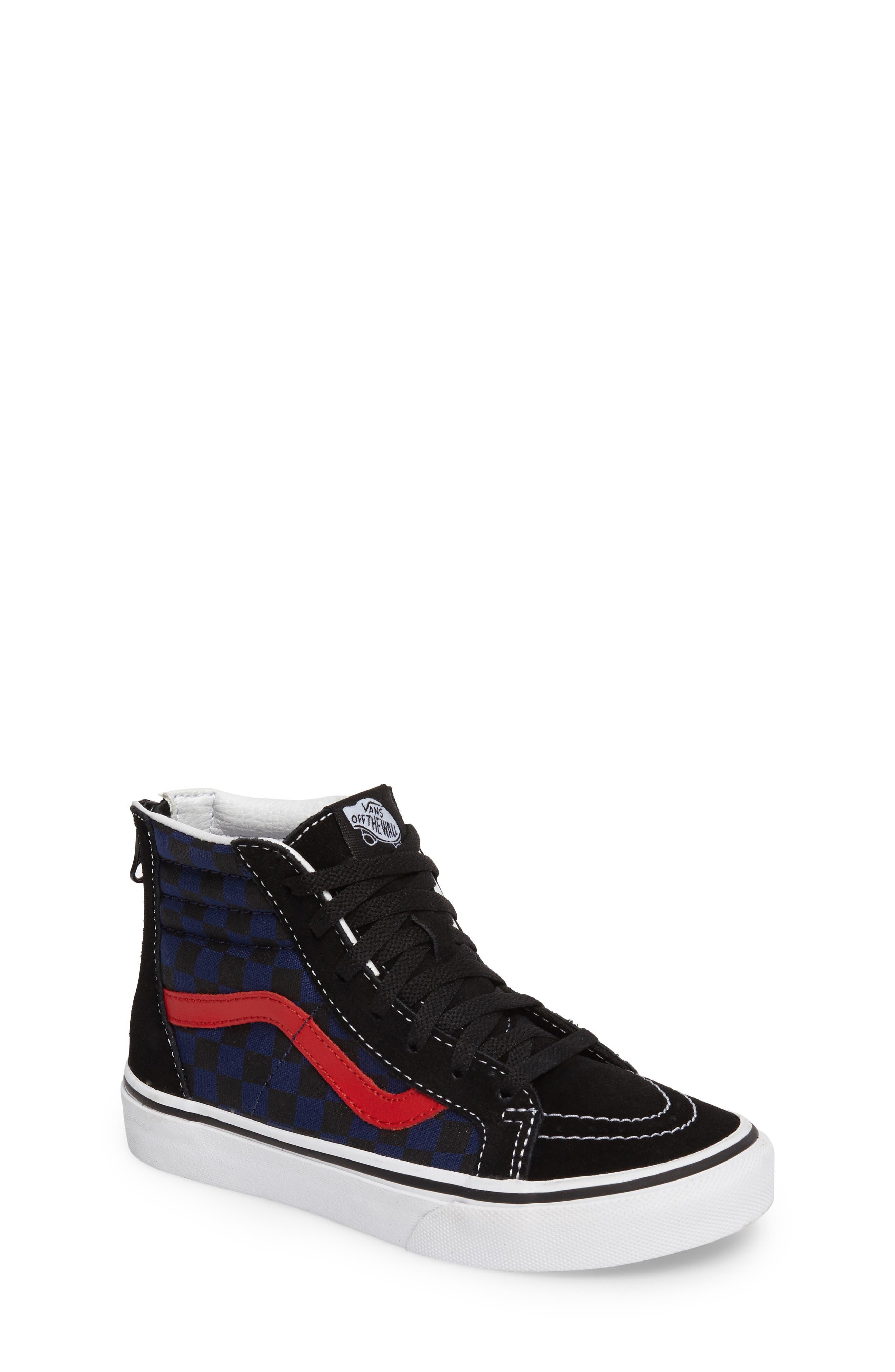 SK8-Hi Zip Sneaker,                         Main,                         color, 001