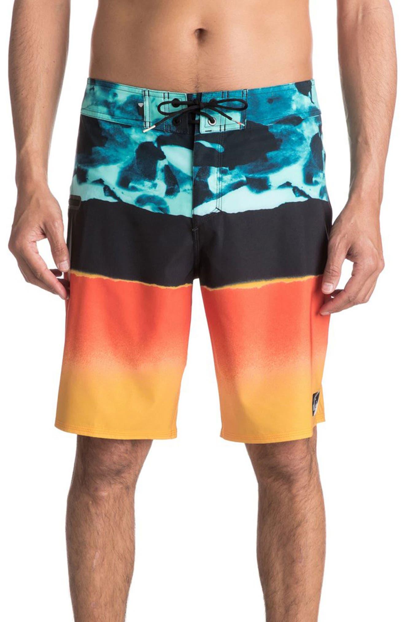 Blocked Resin Board Shorts,                             Main thumbnail 3, color,