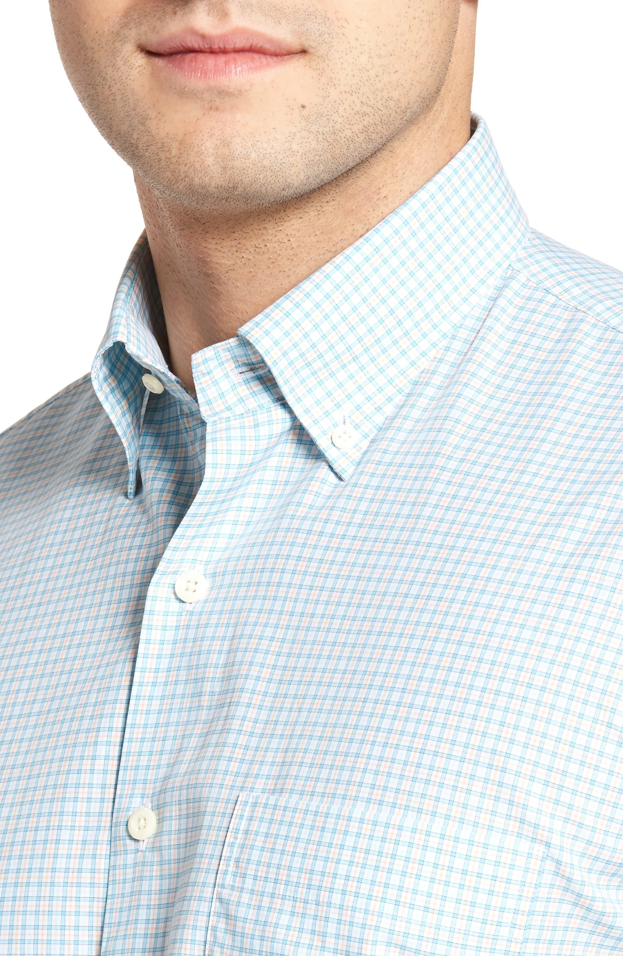 Crown Finish Regular Fit Check Sport Shirt,                             Alternate thumbnail 7, color,