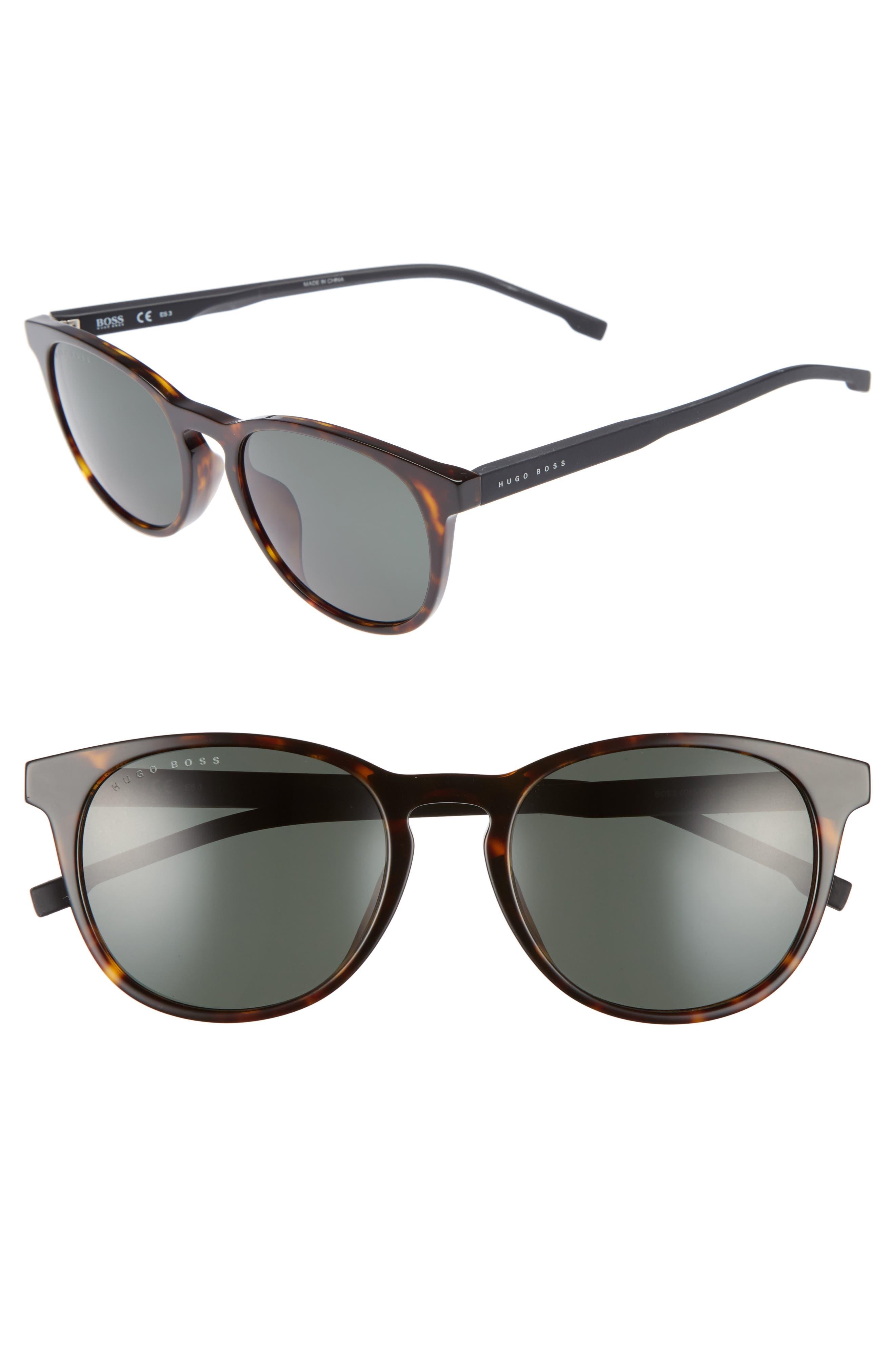 54mm Sunglasses,                         Main,                         color, DARK HAVANA/ GREEN