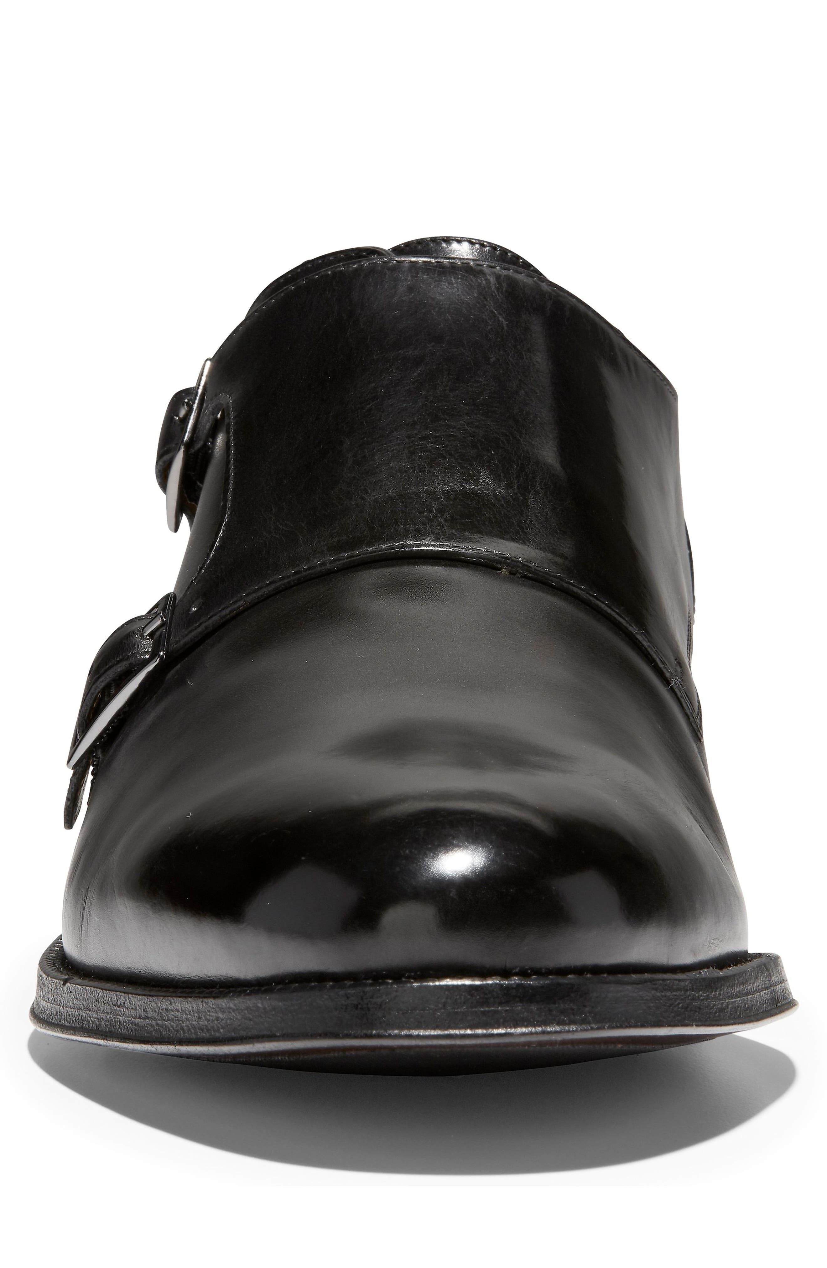 American Classics Gramercy Double Strap Monk Shoe,                             Alternate thumbnail 4, color,                             BLACK LEATHER