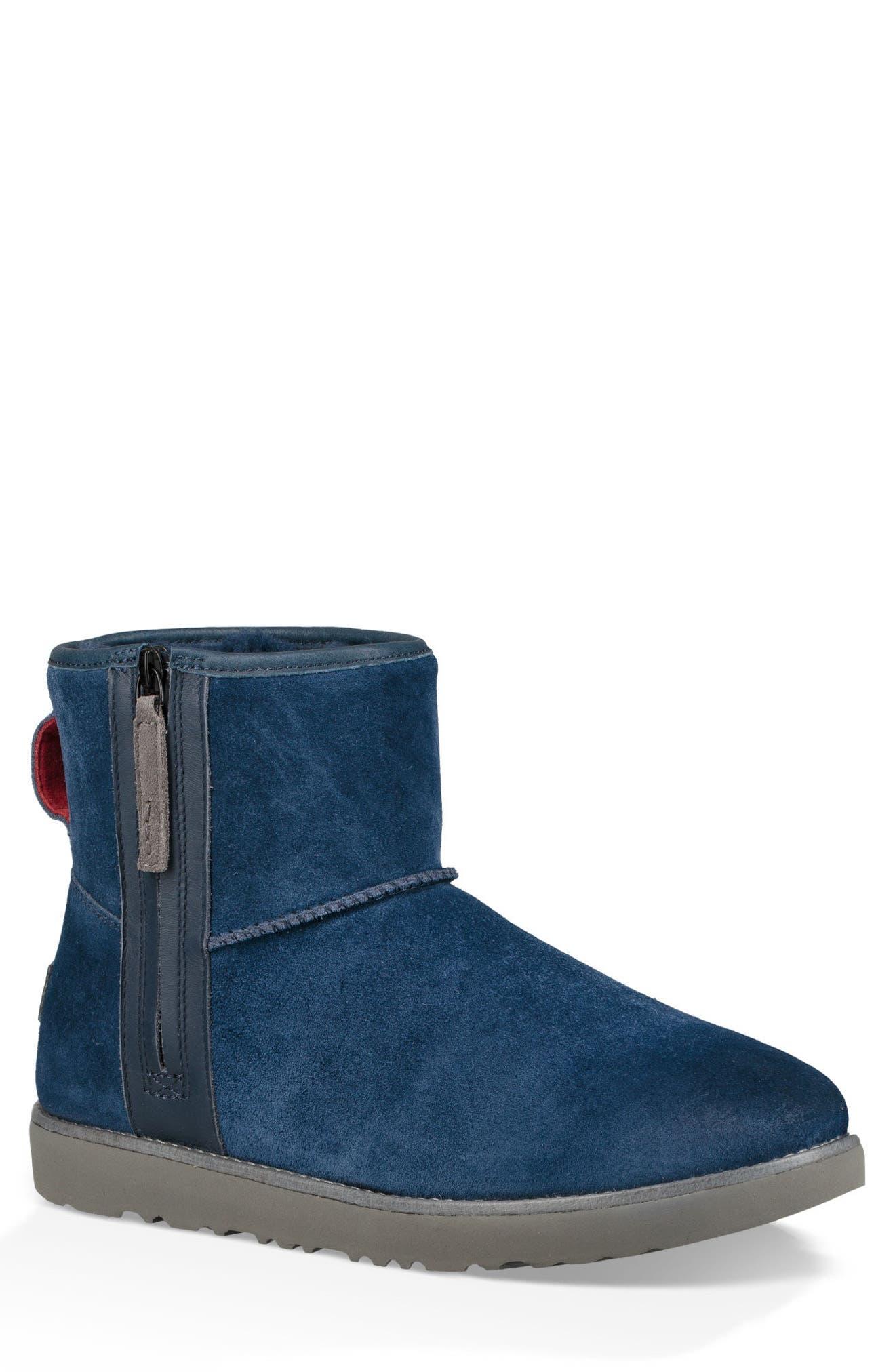 Ugg Mini Zip Waterproof Boot, Blue
